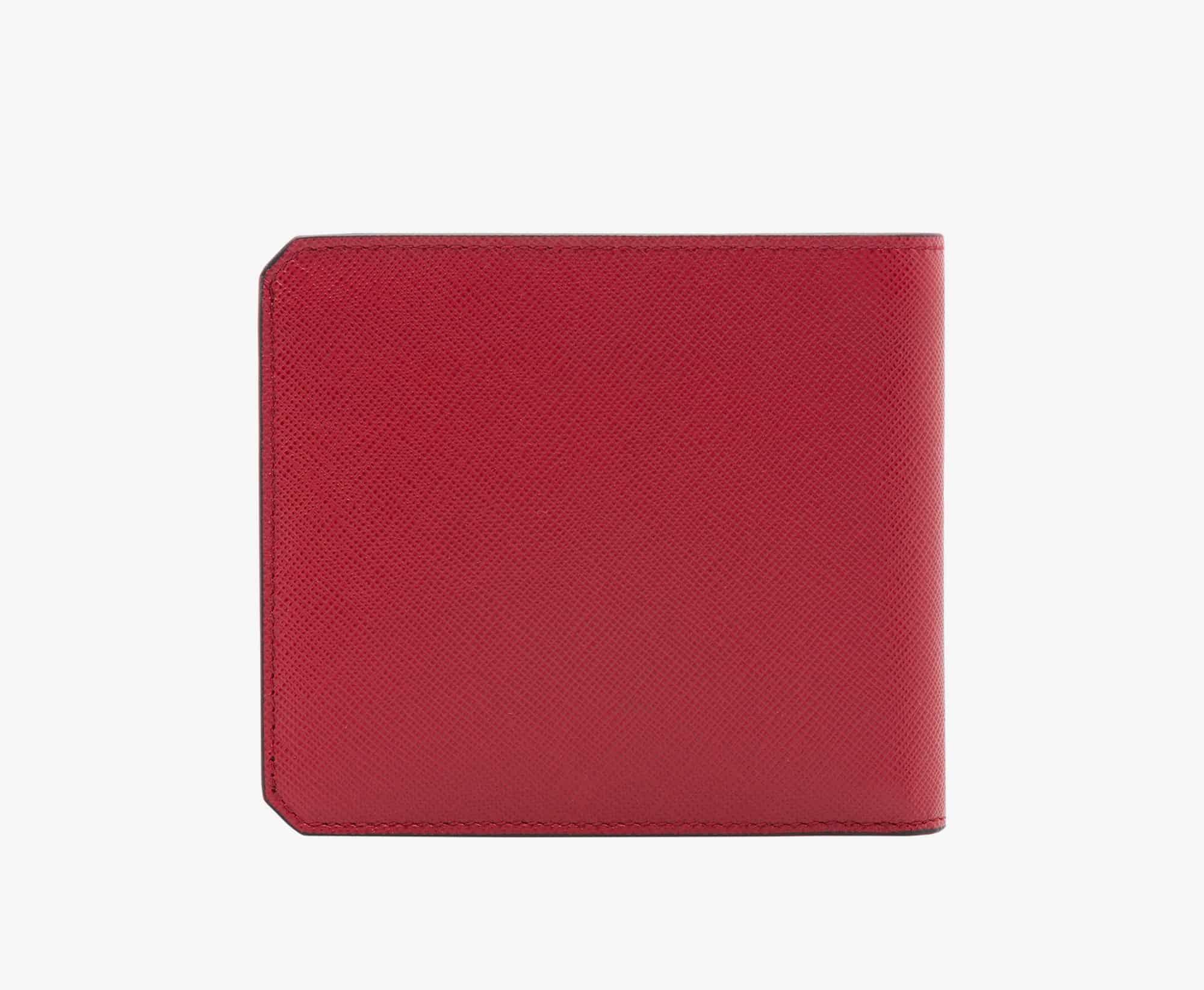 prada red wallet men