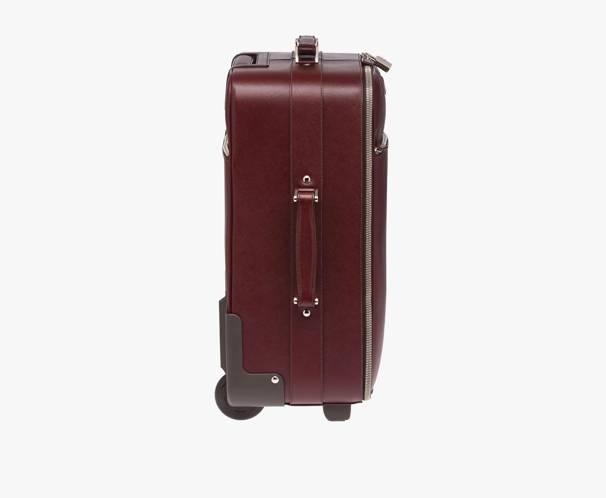 prada trolley burgundy