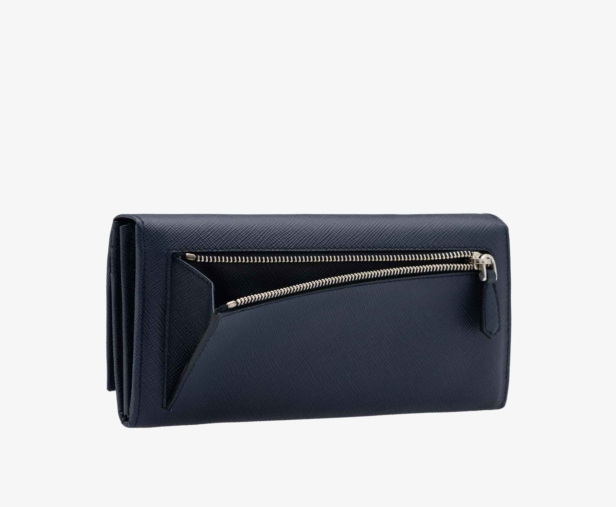 prada wallet baltic blue