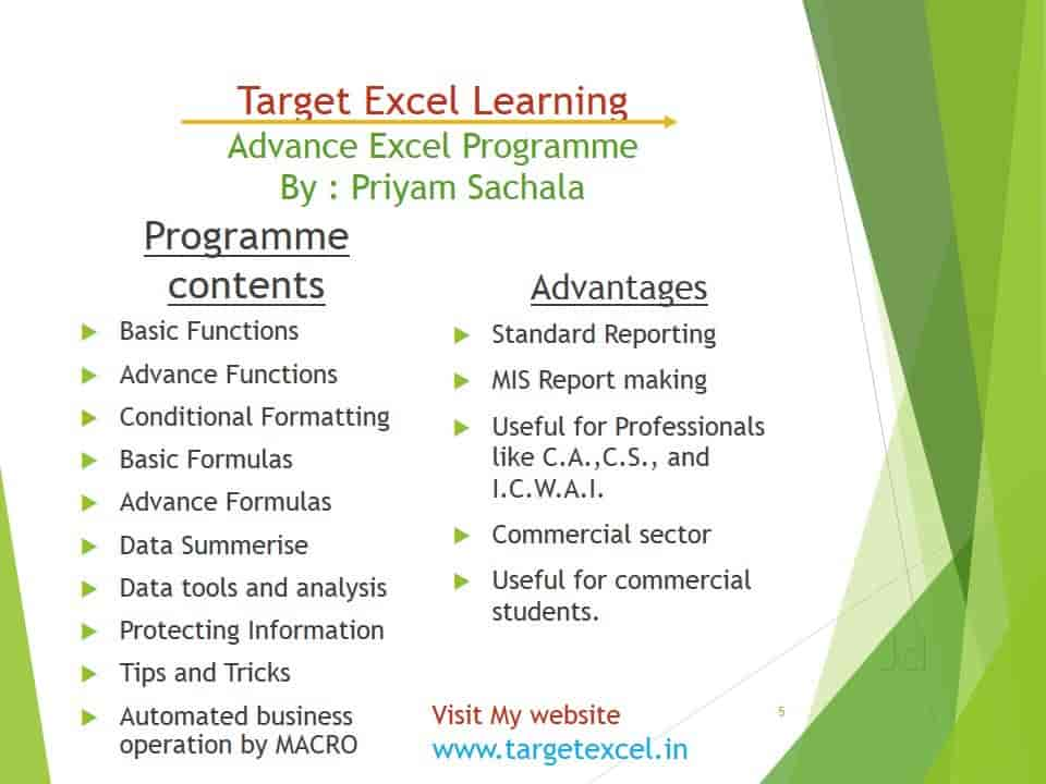 Target Excel Learning