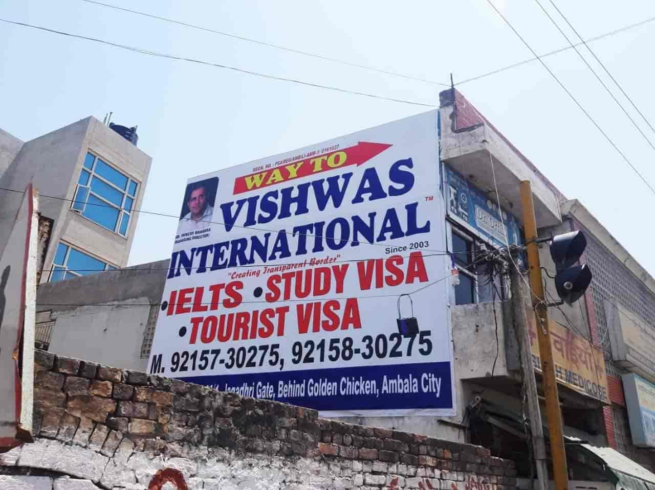 Vishwas International, Jagadhari Gate - Overseas Education Consultants in  Ambala - Justdial