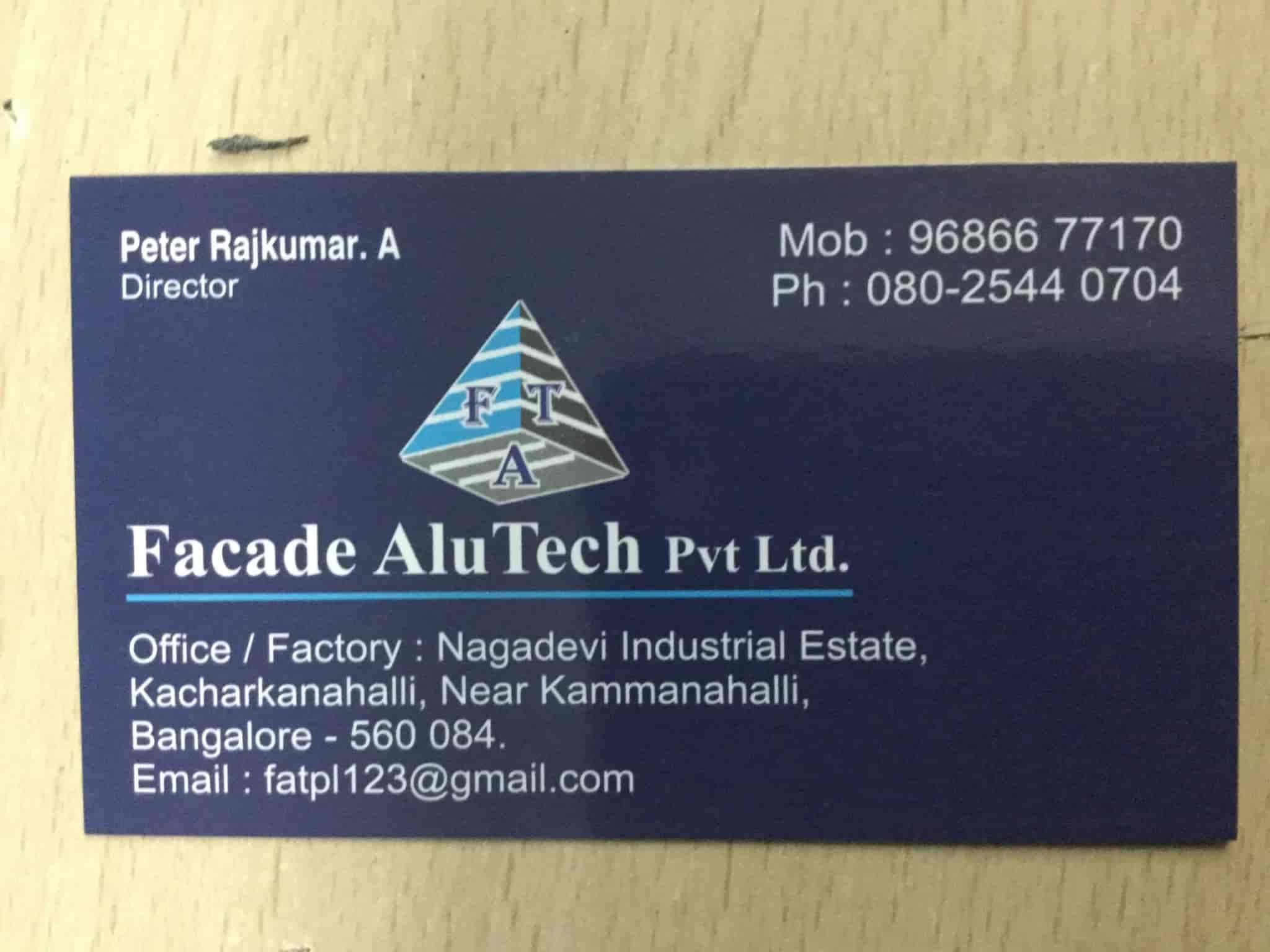 Facade Alutech Pvt Ltd, Kacharakanahalli - Aluminium