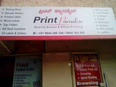 Print paradise wilson garden printers for visiting card in bangalore justdial