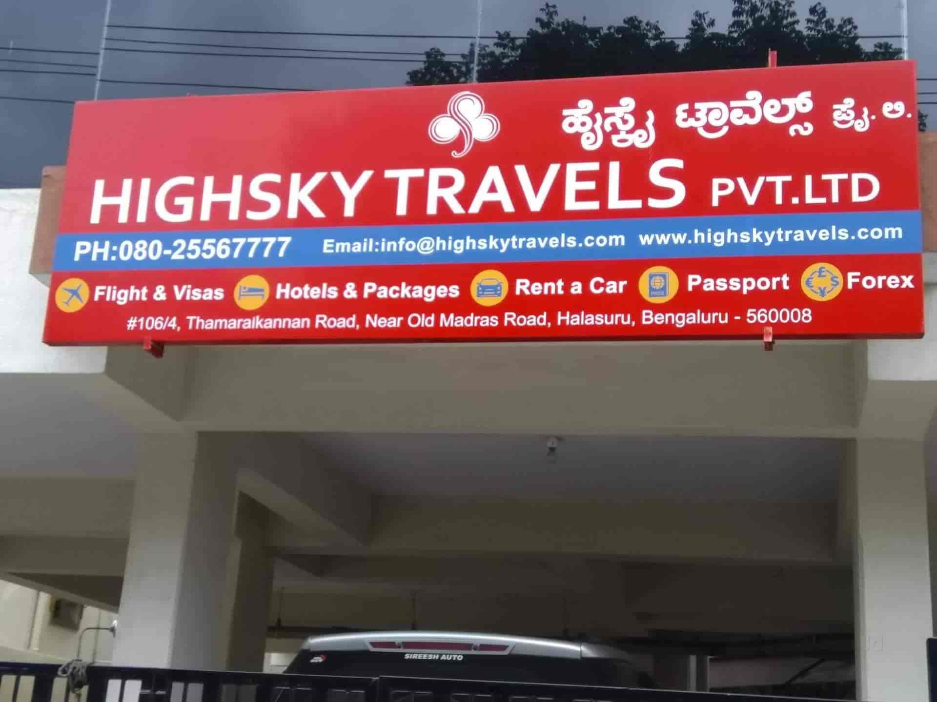 Highsky Travels Pvt Ltd Ulsoor Travel Agents In Bangalore Justdial