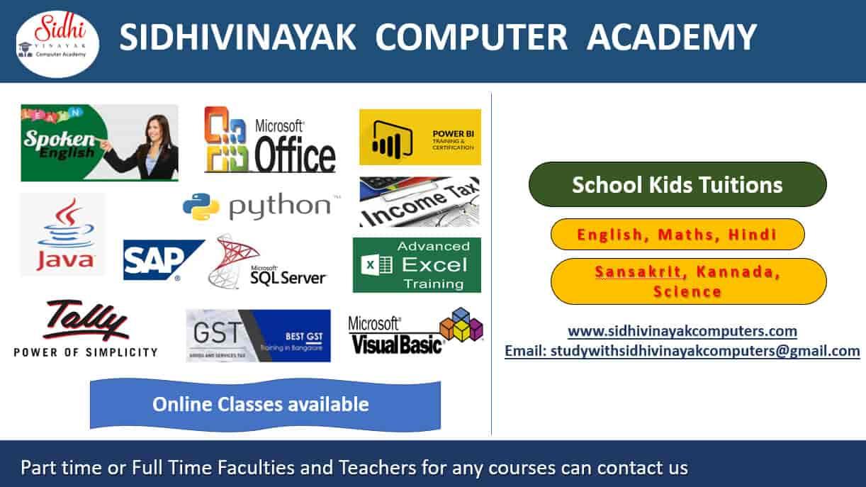 Sidhivinayak Computer Academy, Belathur - Computer Training