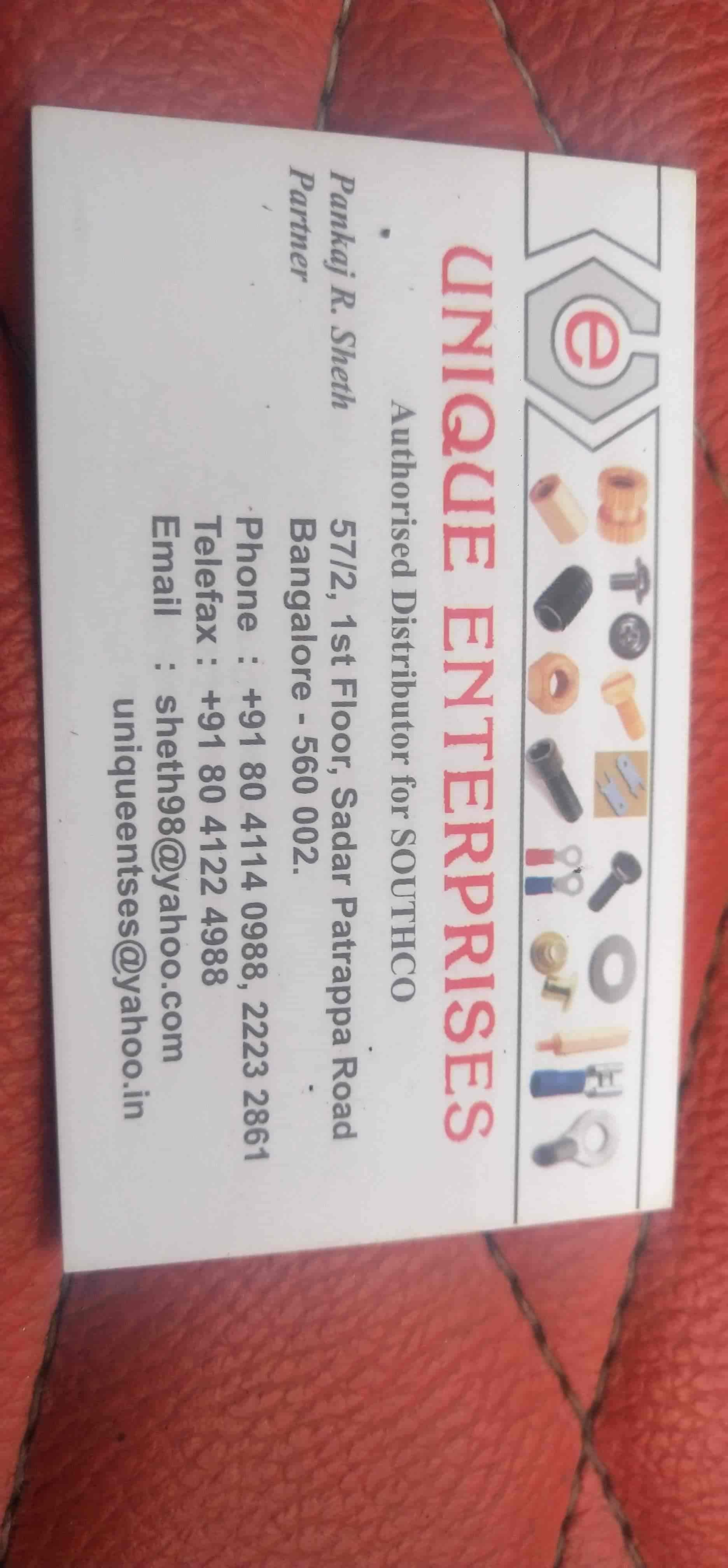 Unique Enterprises, City Market - Fastener Dealers in