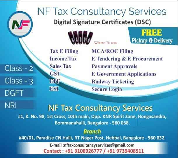 Nf Tax Consultancy Services, Hongasandra - GST Registration