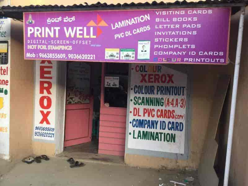 Print Well Hsr Layout Sector 2 Printing Press In
