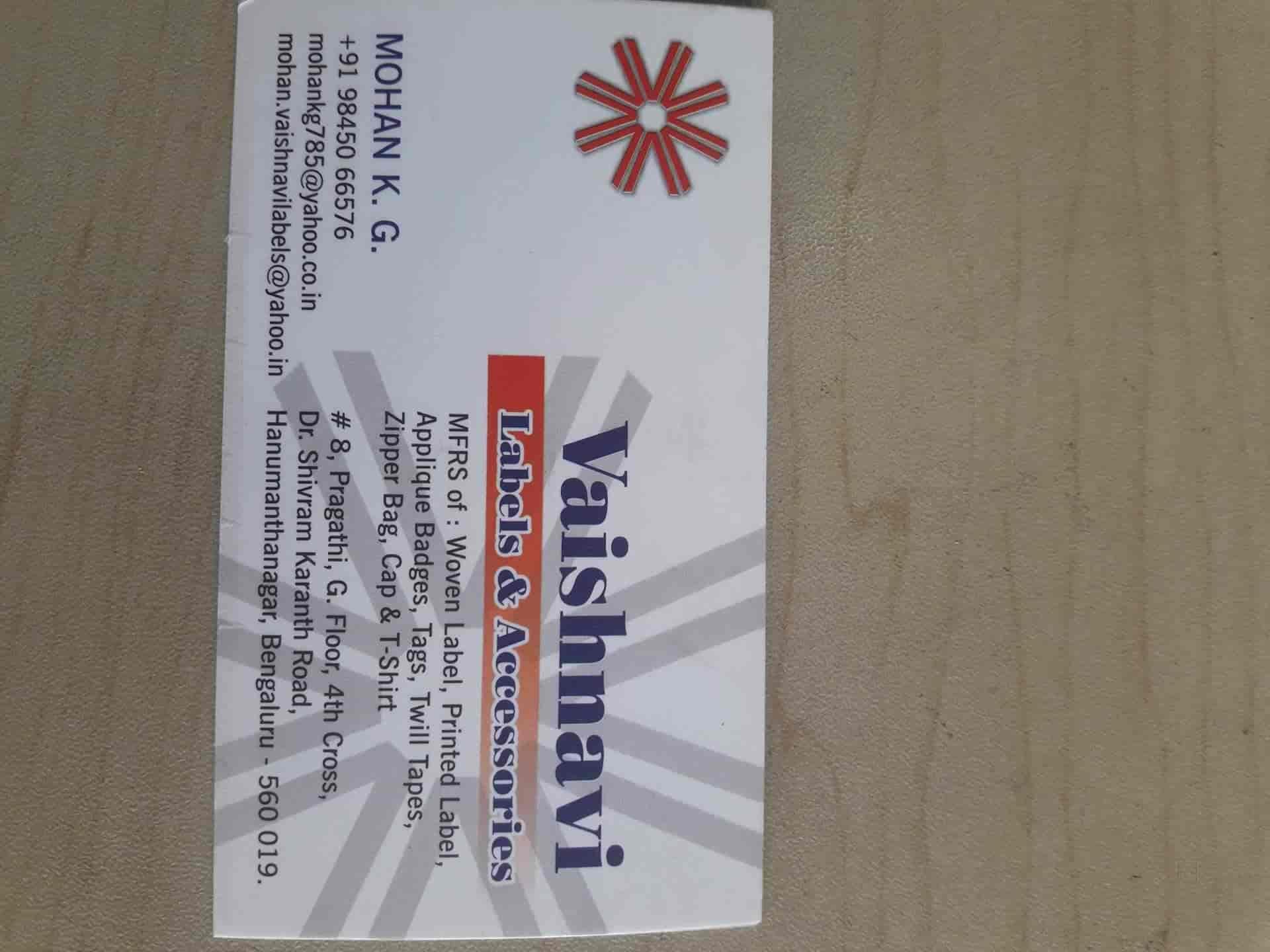 Vaishnavi Labels & Accessories, Srinagar Banashankari 1st