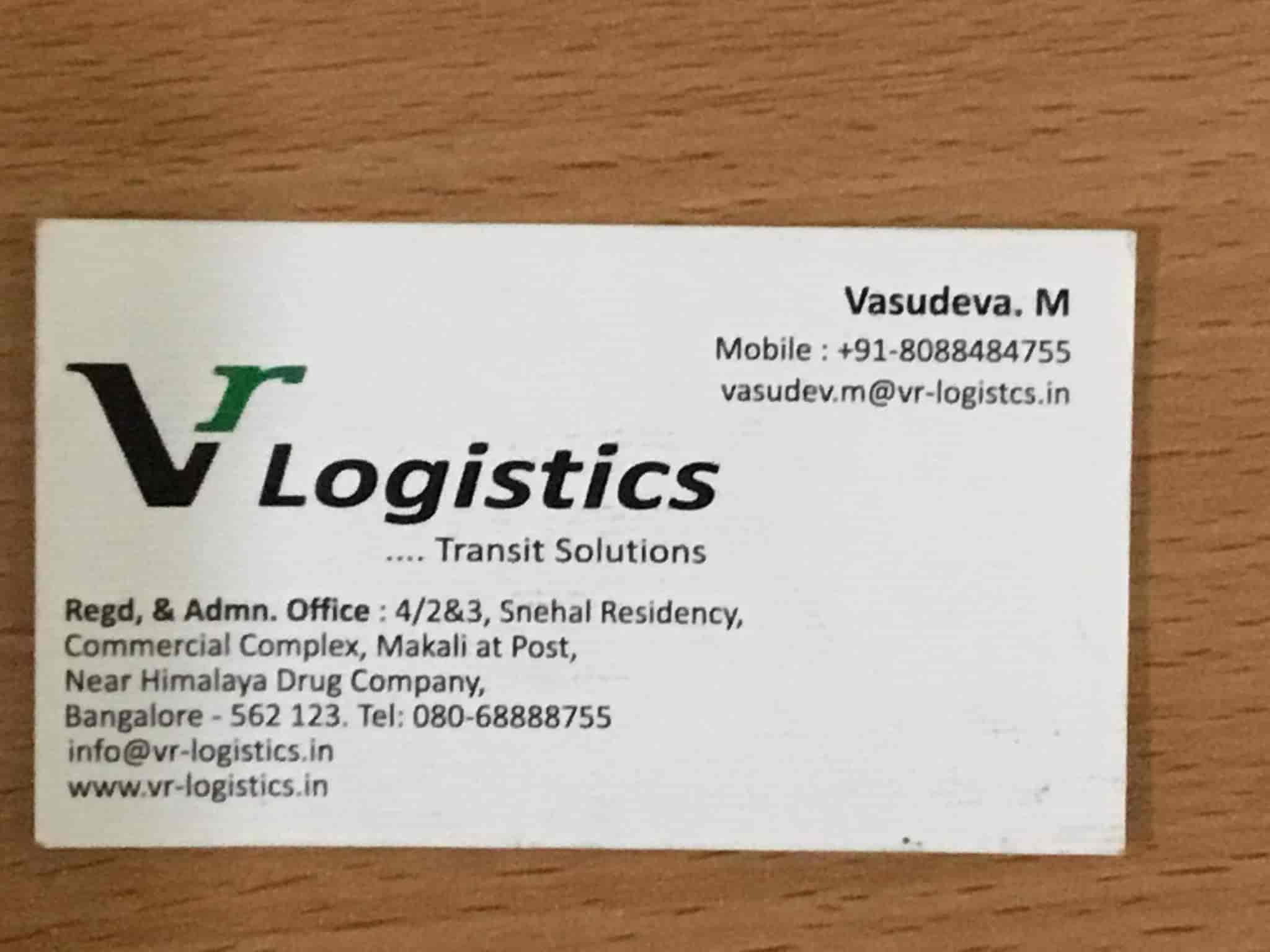 V R Logistics, Makali - Transporters in Bangalore - Justdial