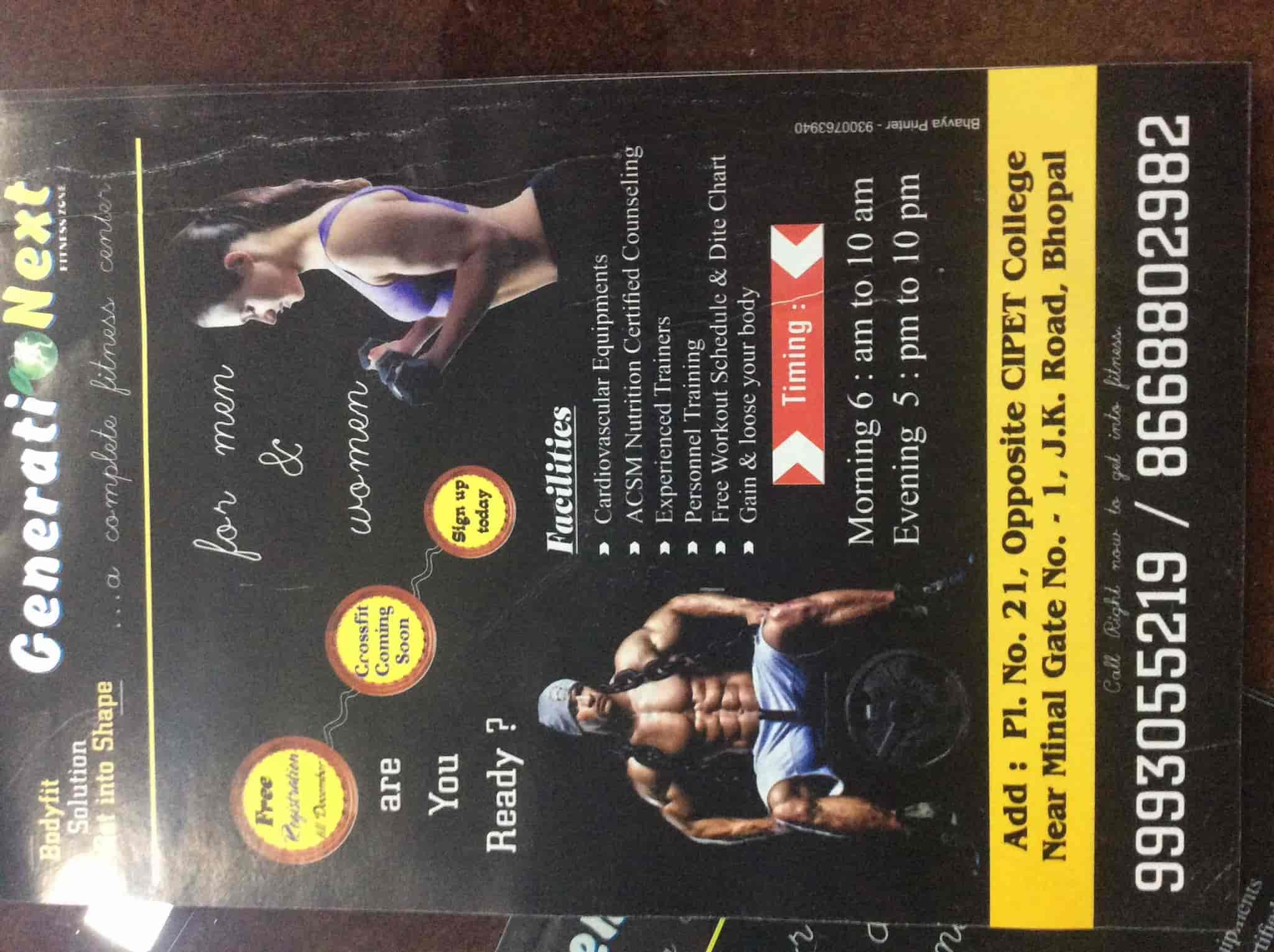Generationext Fitness ZONE, J K Road - Gyms in Bhopal - Justdial