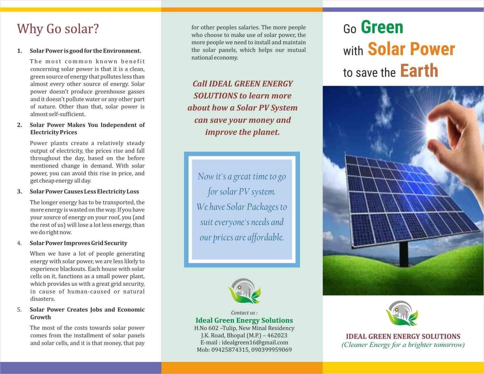 IDEAL GREEN Energy Solutions, J K Road - Solar Panel