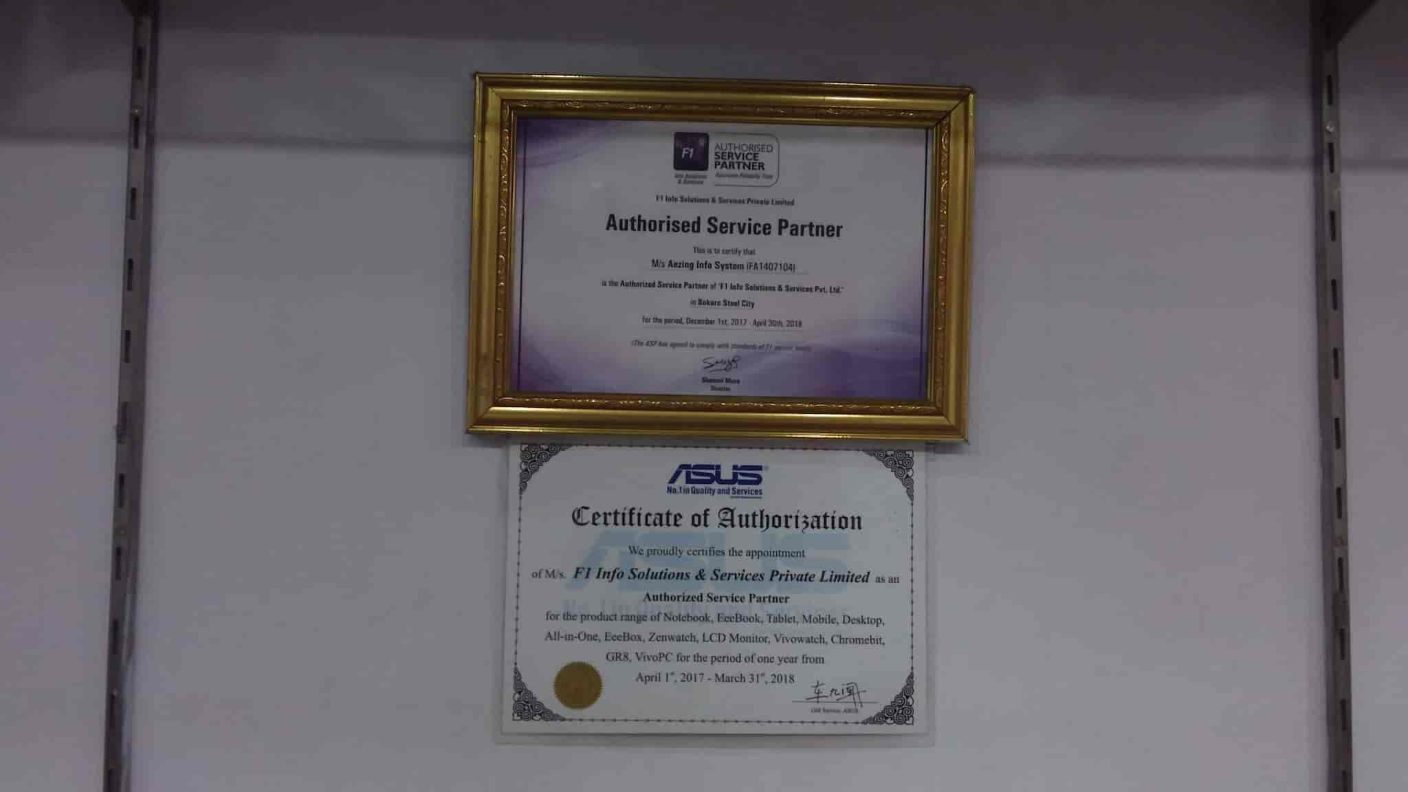 F1 Info Solutions Services Pvt Ltd Sector 4 Asus Service Center