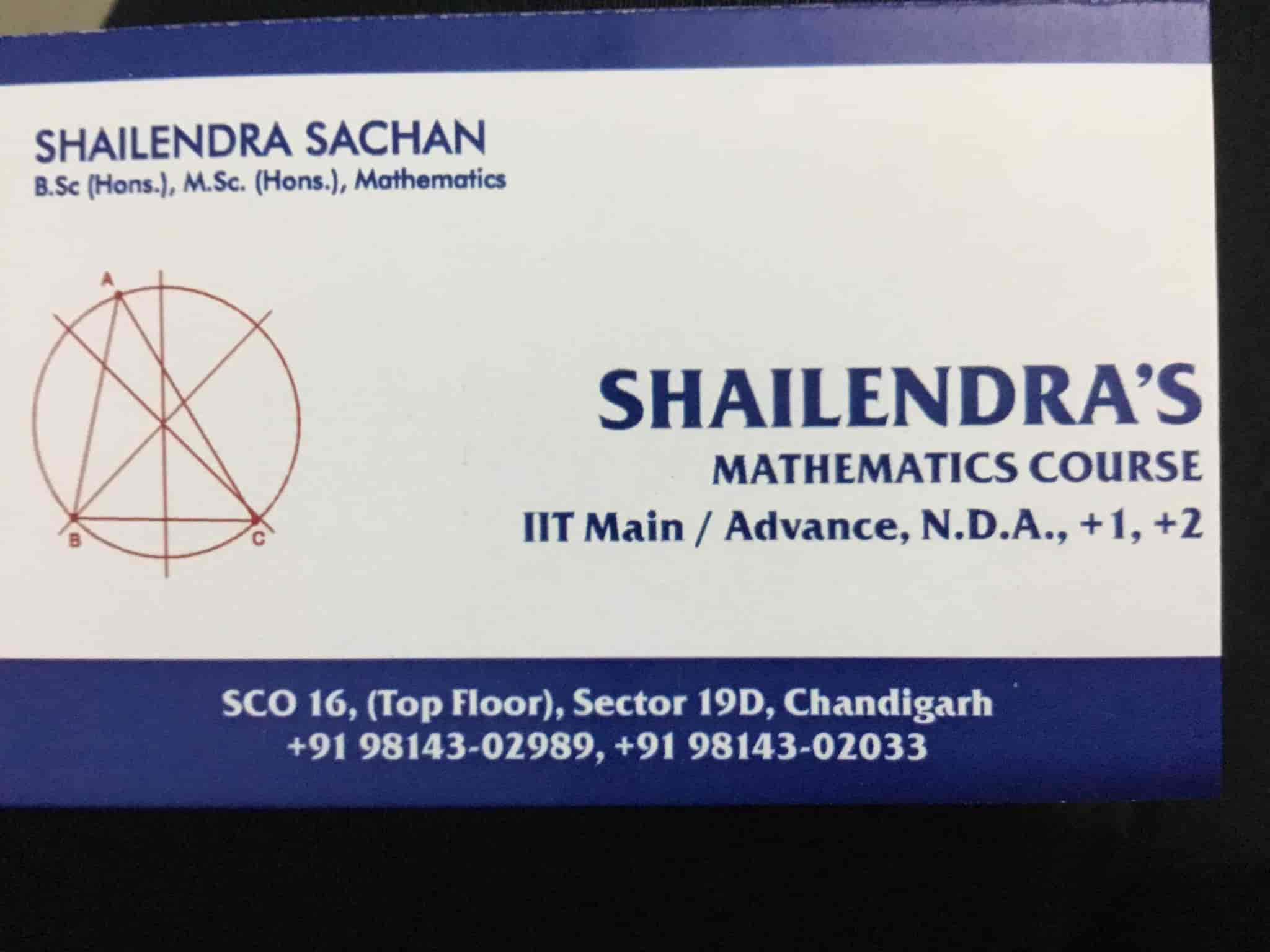 Shailendras Mathematics Course, Sector 19 - Tutorials in Chandigarh ...