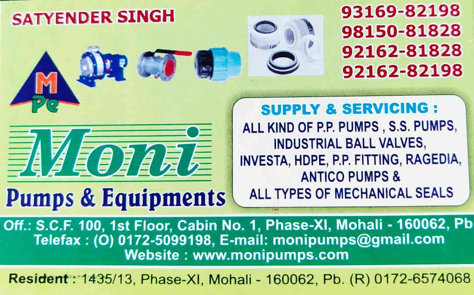 Moni Pumps & Equipment, Chandigarh Sector 65 Phase 11 - Pump