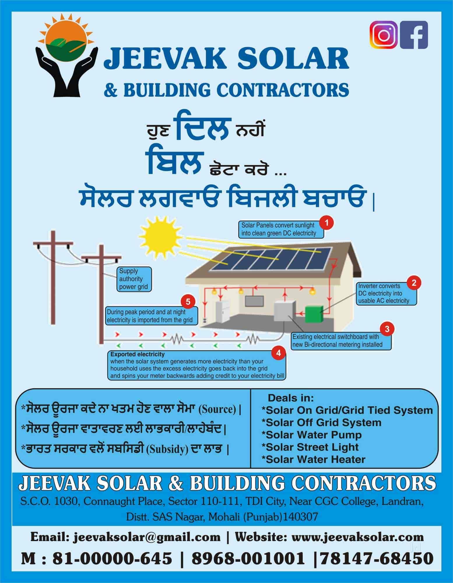 Jeevak Solar And Building Contractors, Landran - Solar Panel