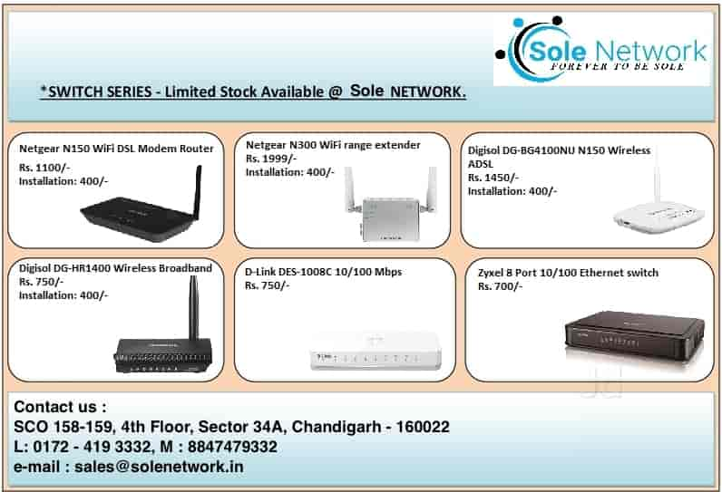 Sole Network, Chandigarh Sector 34a - Computer Networking