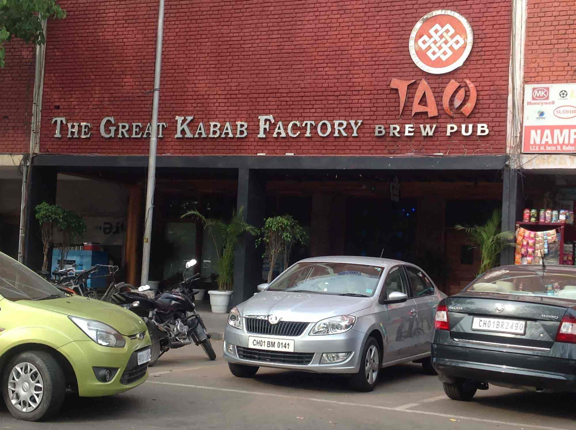 Carte Inde Chandigarh.The Great Kabab Factory Chandigarh Sector 26 Chandigarh