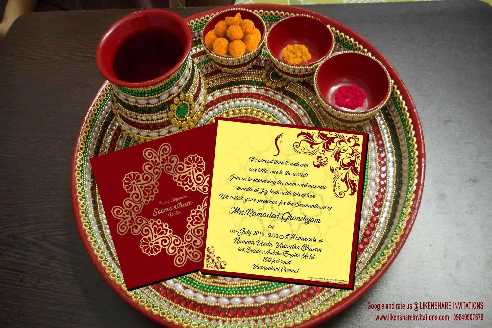 Likenshare Invitations Villivakkam Wedding Card Printers