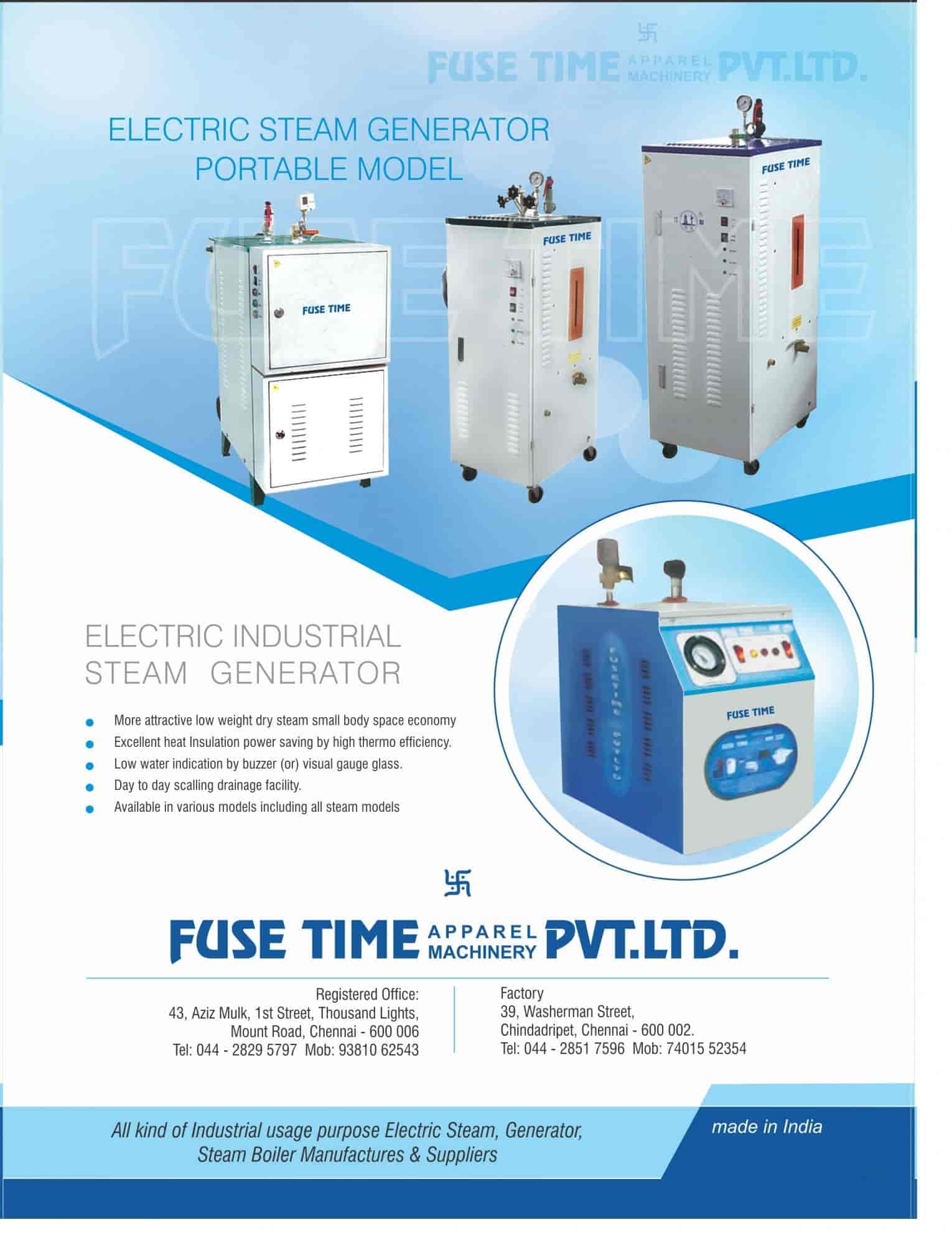 Fuse Time Apparel Machinery Pvt Ltd (Factory) Photos, Chindatripet ...