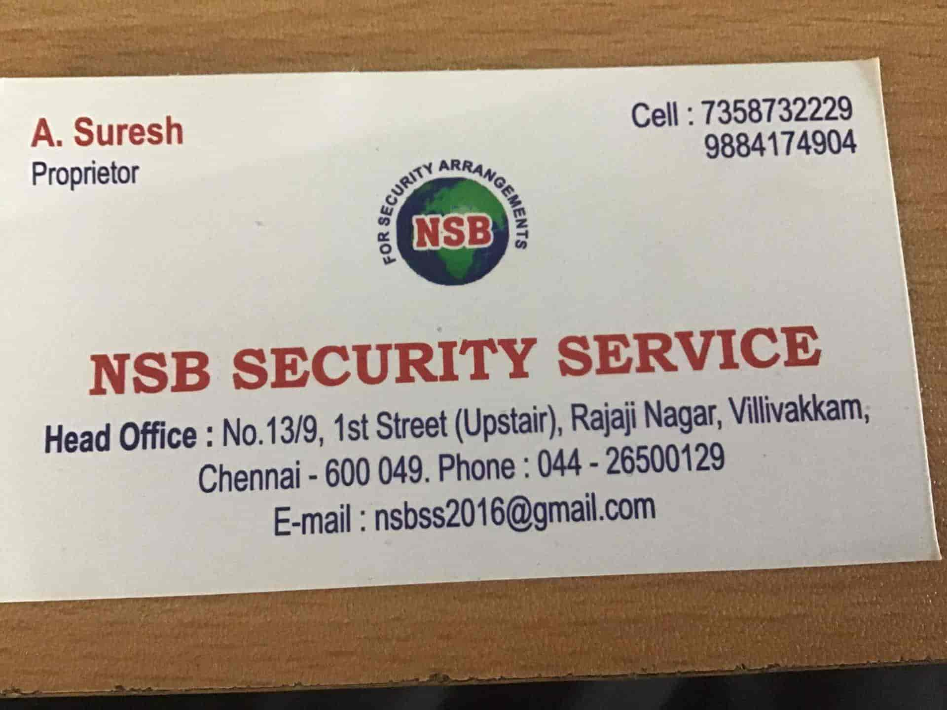 Nsb Security Services, Villivakkam - Security Services For