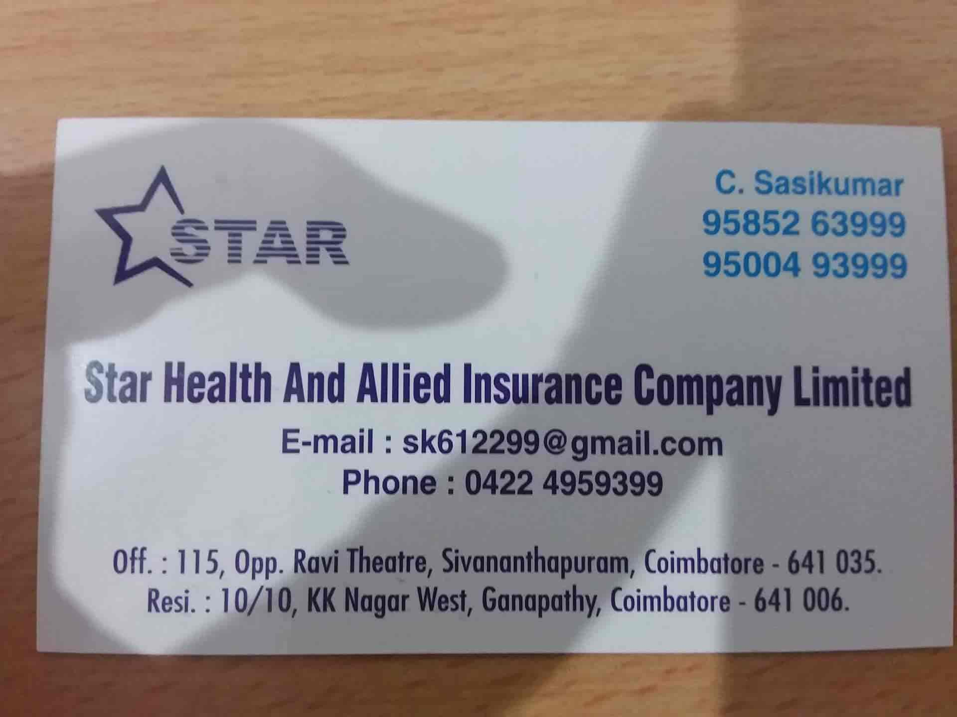 Star Health And Allied Insurance Company Limited Saravanampatti