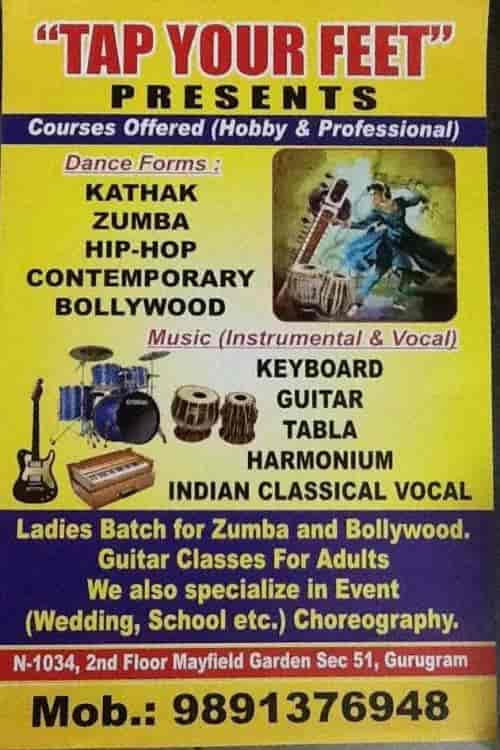 Tap Your Feet, Gurgaon Sector 51 - Music Classes For