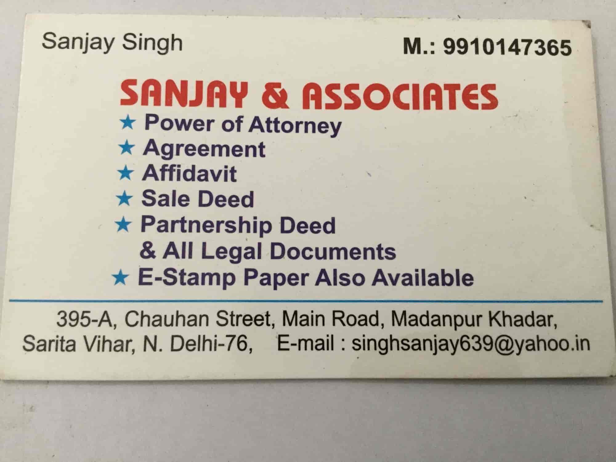 sanjay associates madanpur khadar sunjay associates