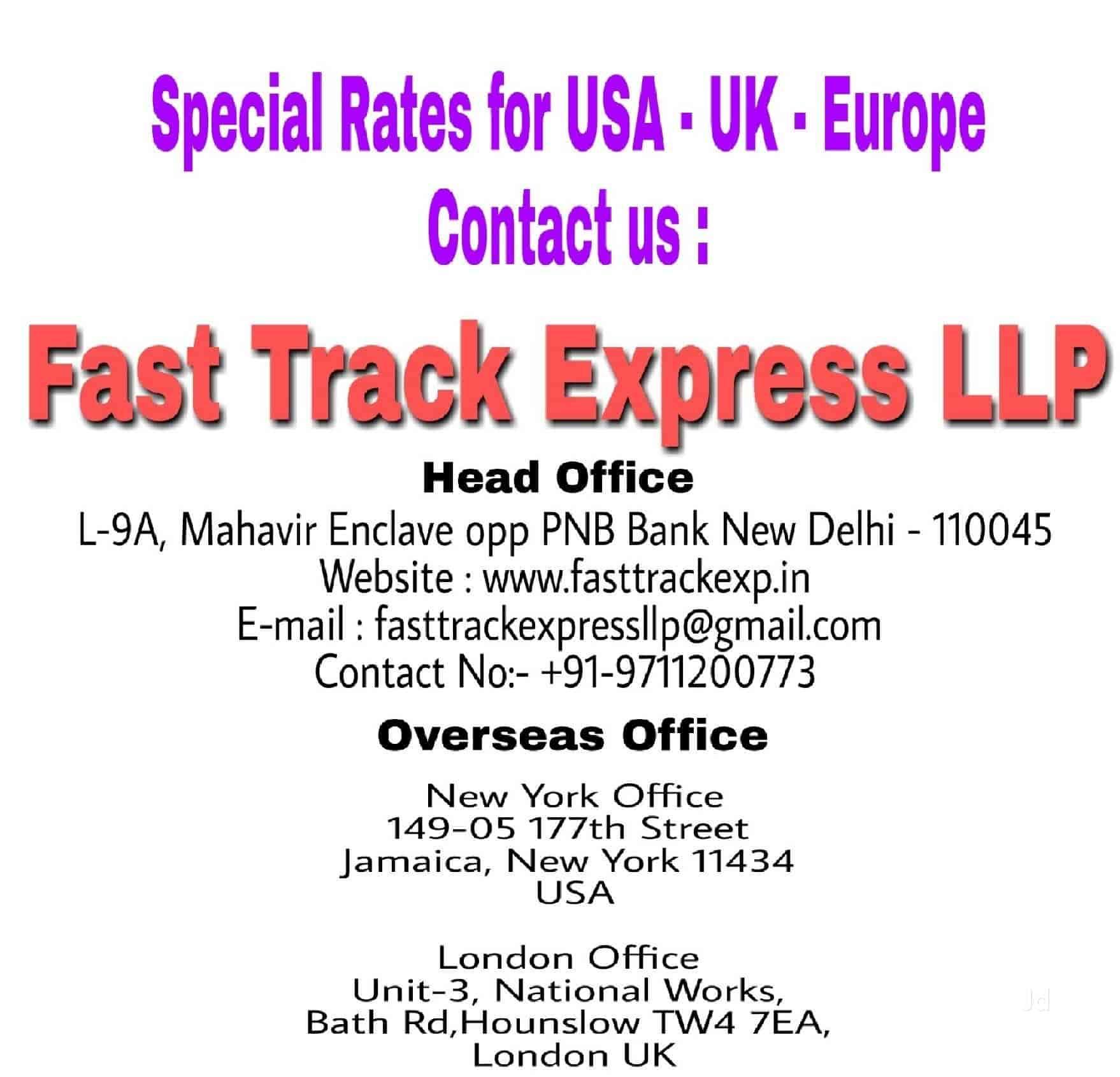 Fast Track Express Llp, Mahavir Enclave - International