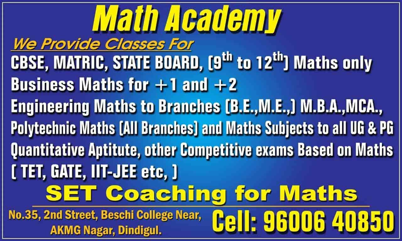 Math Academy, Collectorate - Tutorials in Dindigul - Justdial