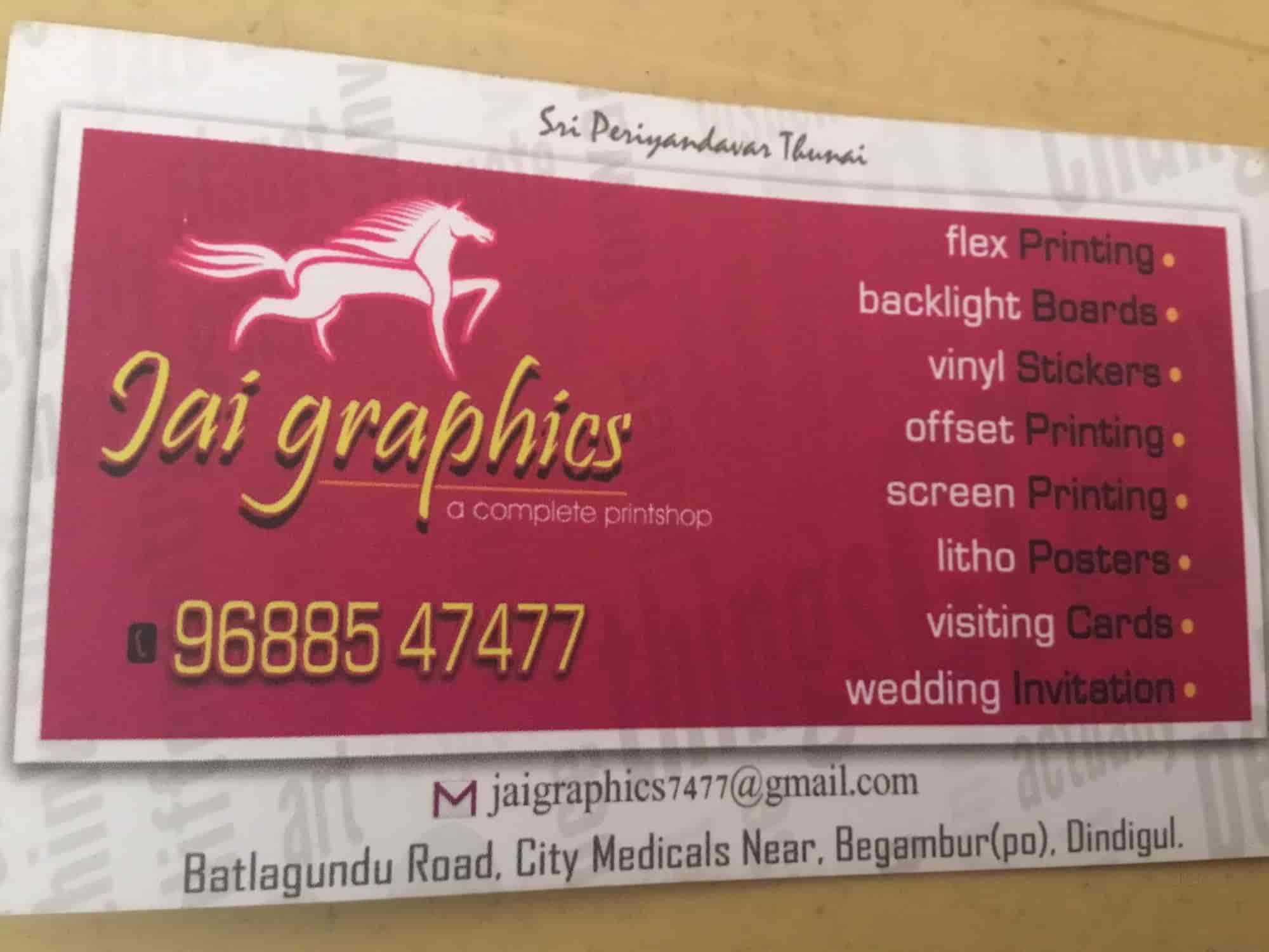 Jai Graphics, Dindigul East - Flex Printing Services in Dindigul ...