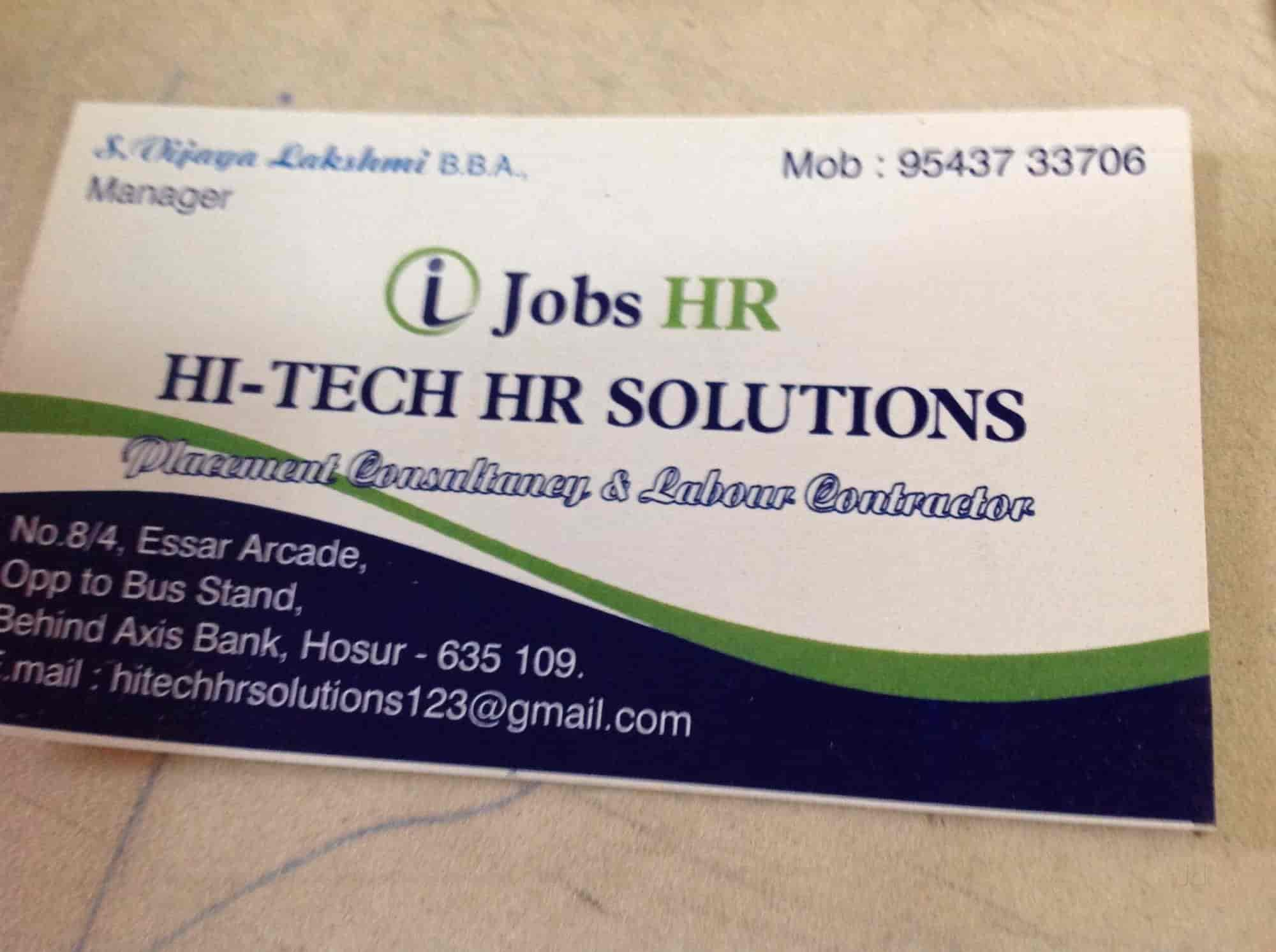 Hi-tech HR Solutions - Placement Services (Candidate) in Hosur ...