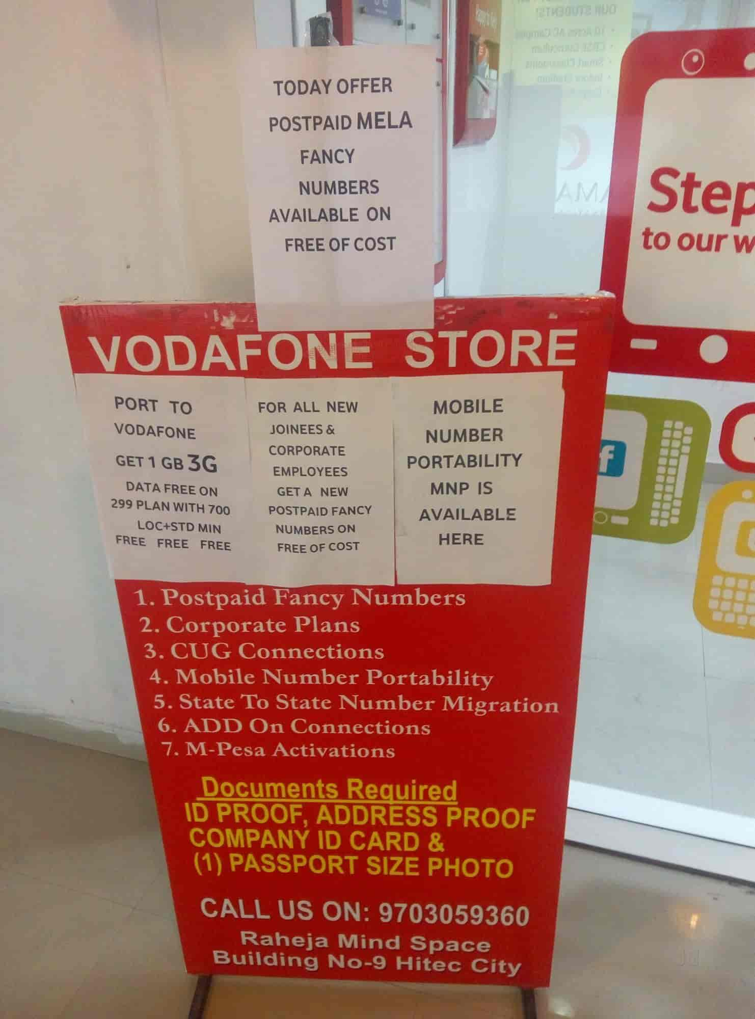 Vodafone Store, Hitech City - Mobile Phone Simcard Dealers