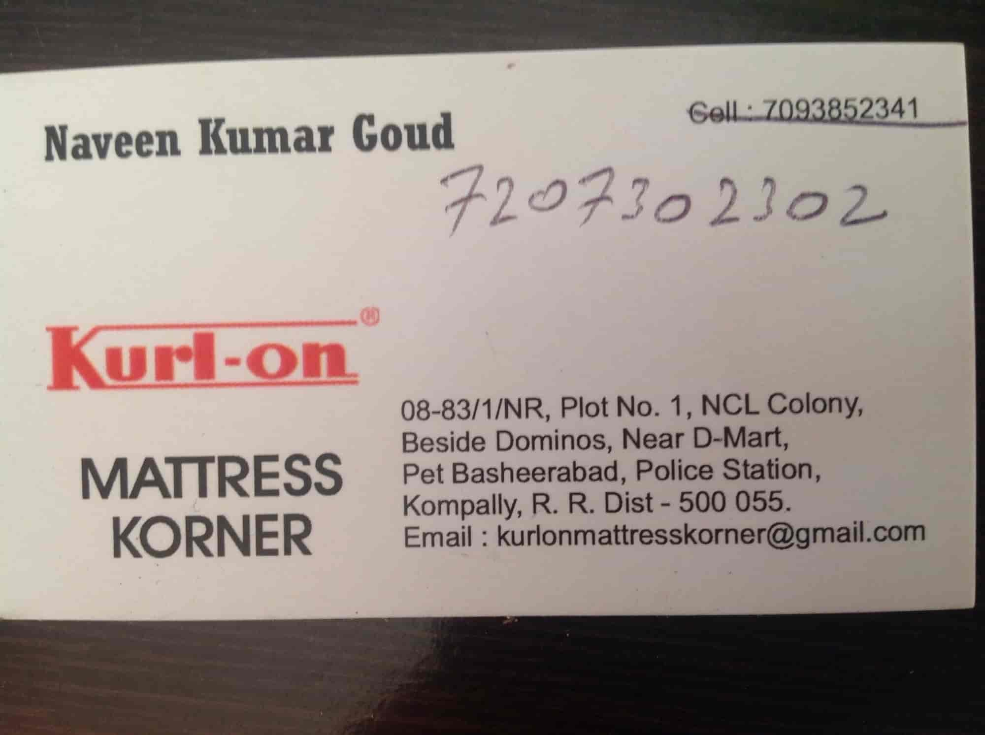 Mattress Korner, Kompally - Mattress Dealers in Rangareddy