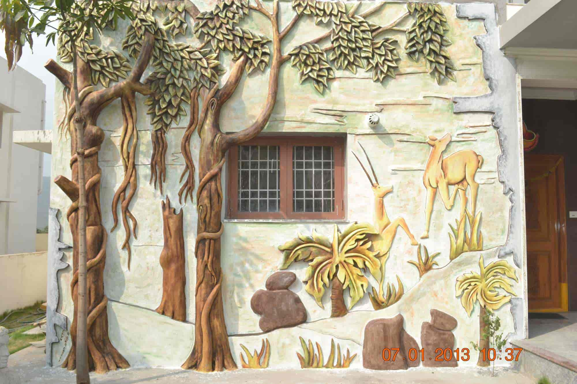 Chiranjeevi Murals And Water Falls