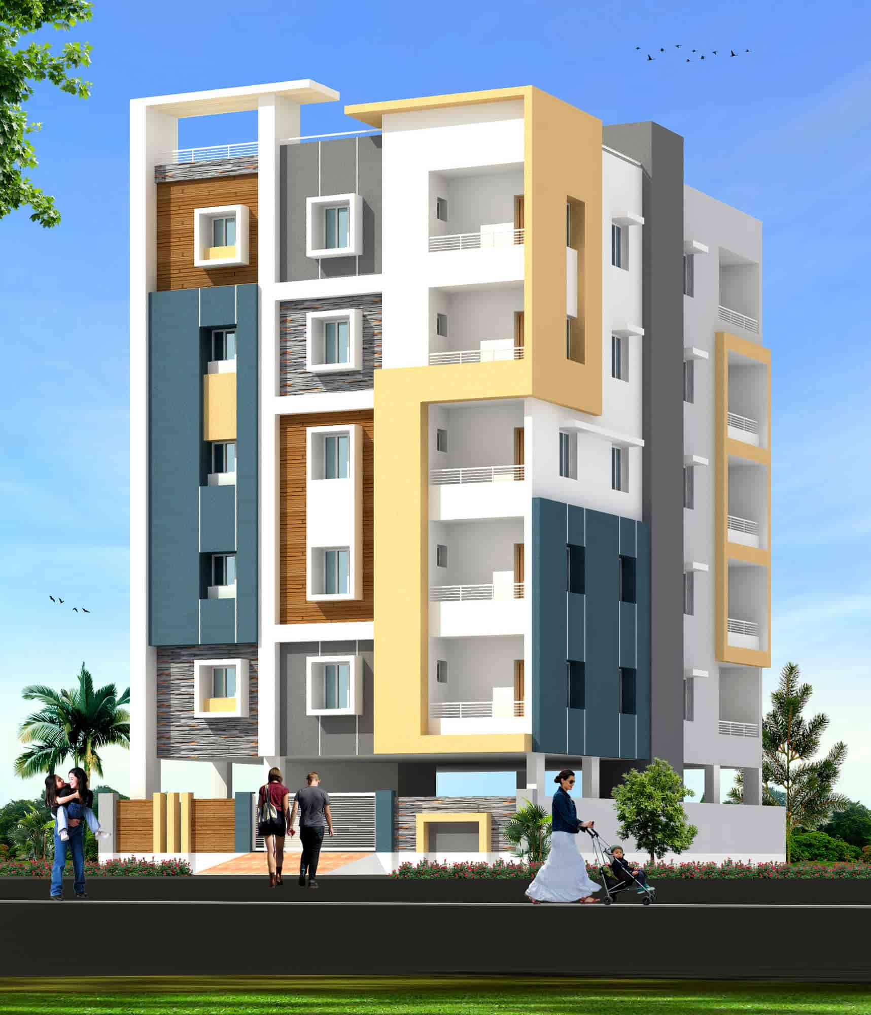Apartment Elevation Designs In Hyderabad - Apartment Poster