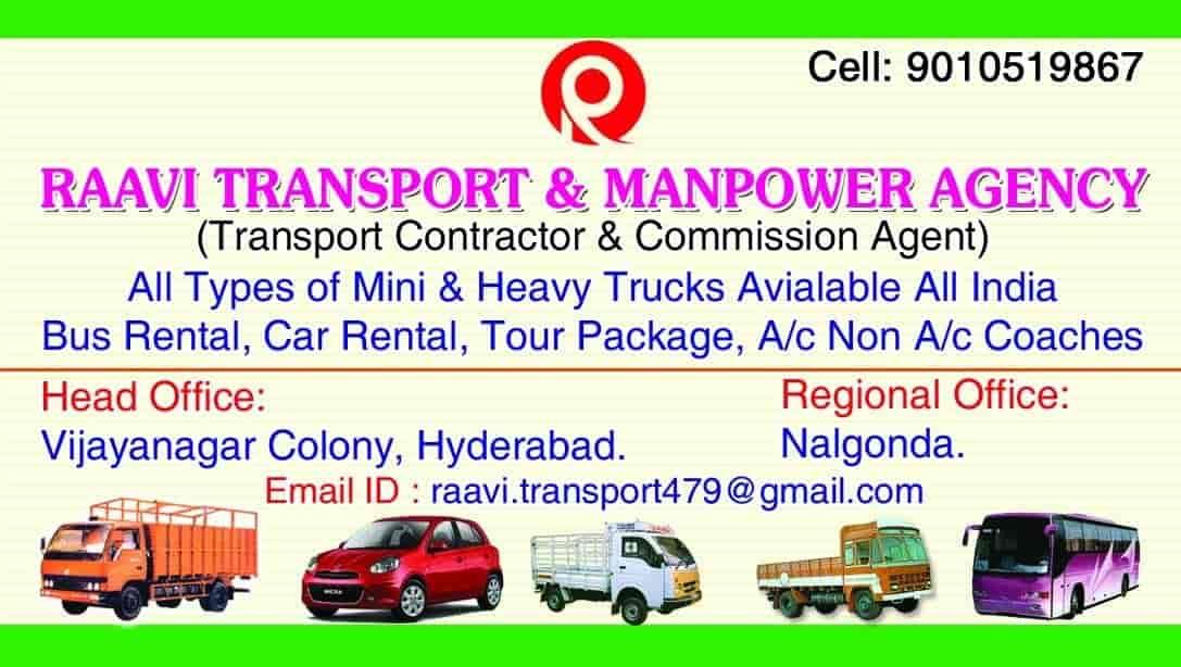 Raavi Transport & Manpower Agency, Vijay Nagar Colony