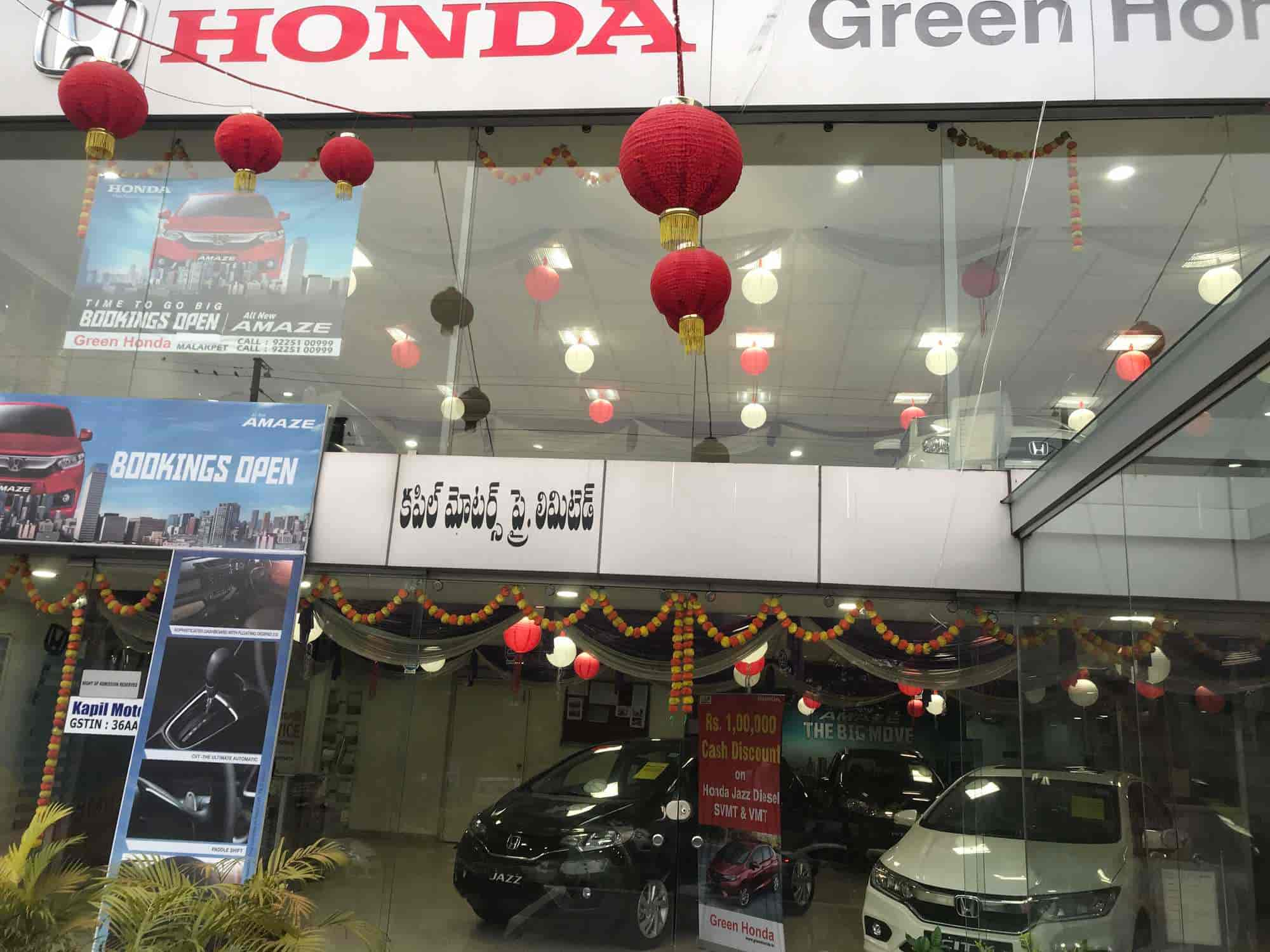 Green Honda Car Showroom Malakpet Car Dealers Honda In Hyderabad