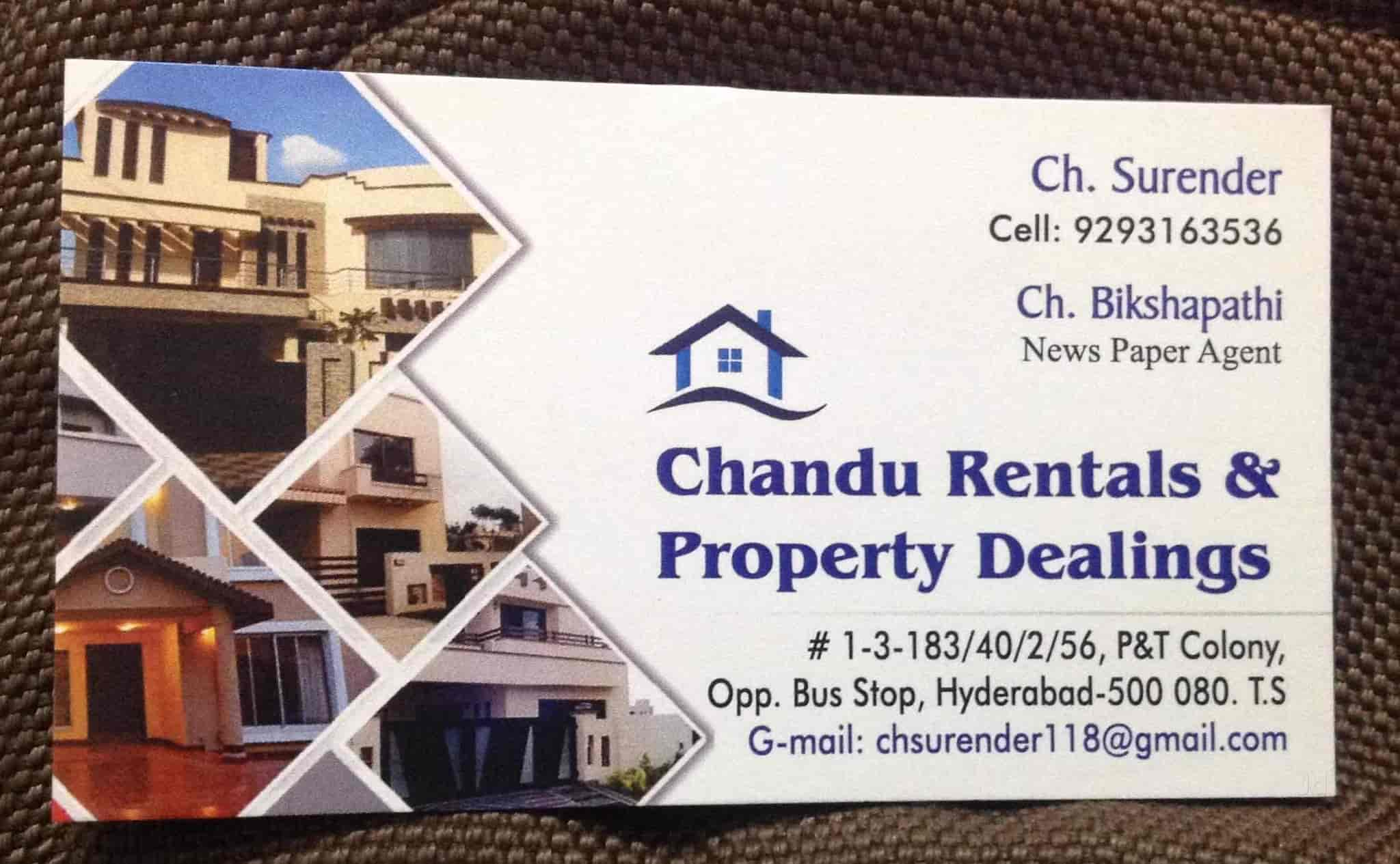 Chandu Rentals & Property Dealings, Gandhi Nagar - Estate