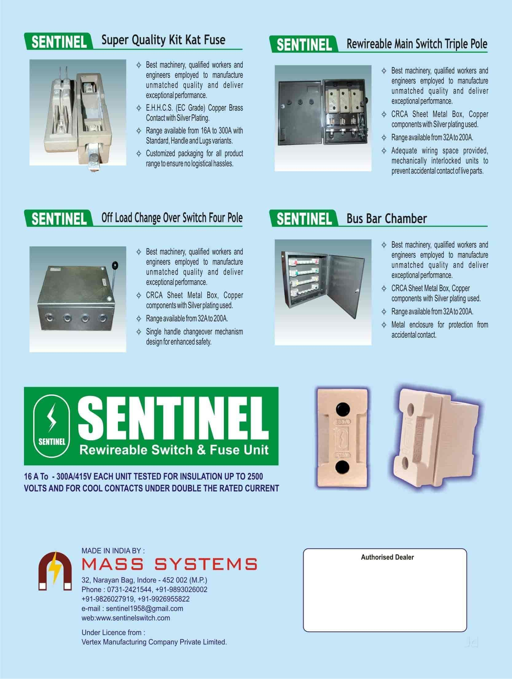 Sentinel Fuse and Switch Unit ( Mass Systems), Narayan Bagh ...