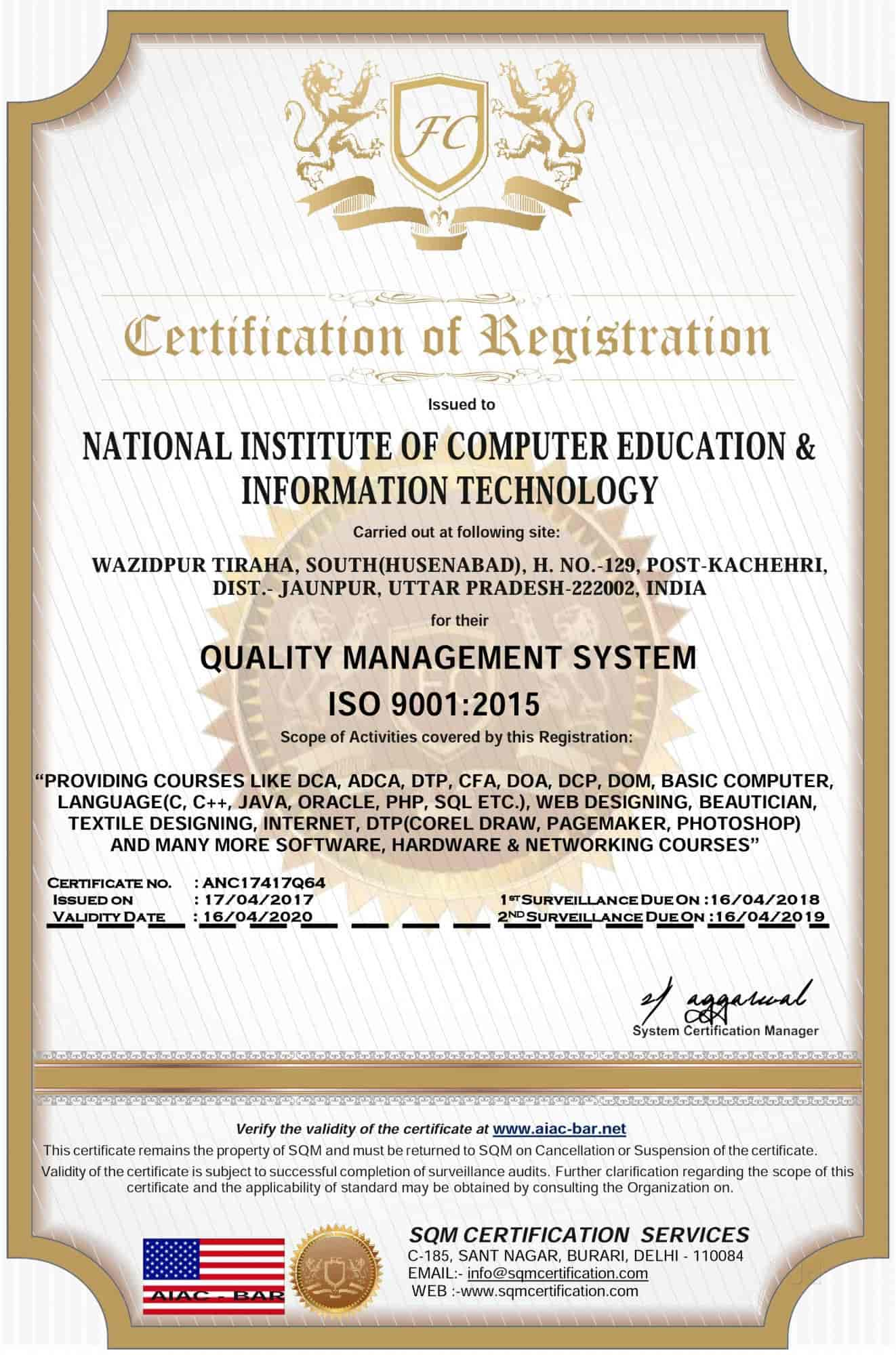 National Institute Of Computer Education&information