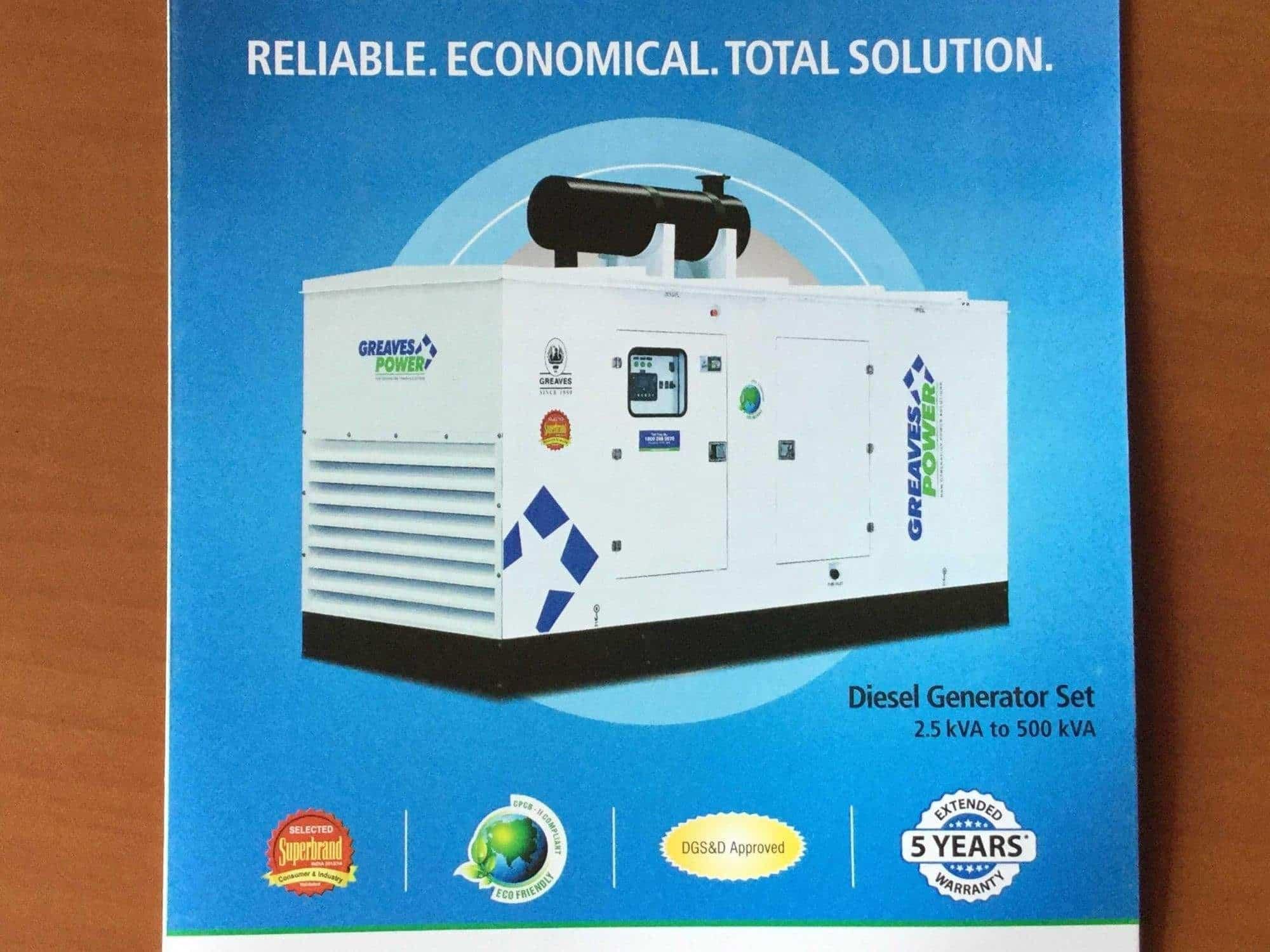 Top Diesel Generator Dealers Greaves in M G Road Best Diesel