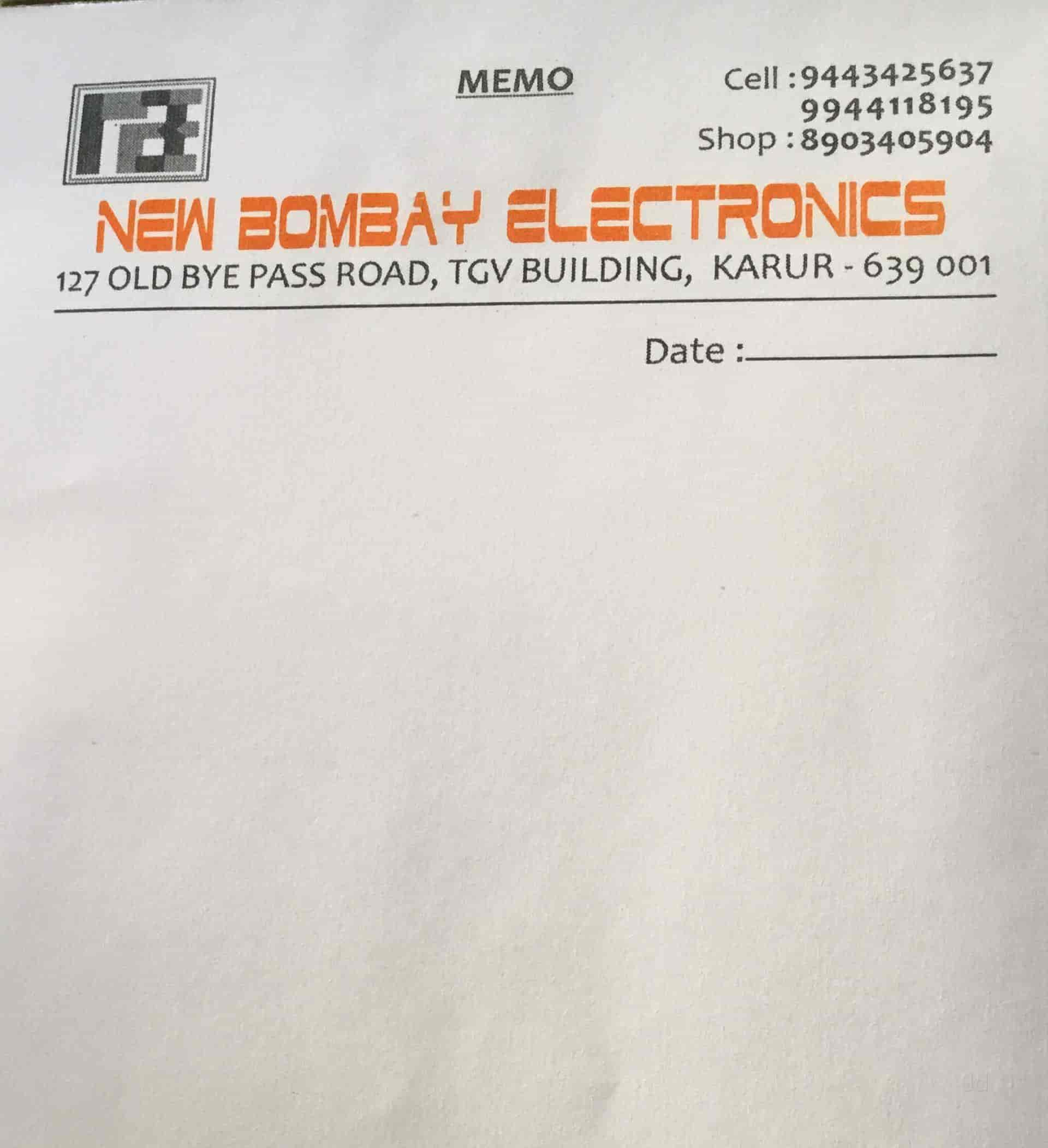 New Bombay Electronics, Karur HO - Car Audio System Dealers