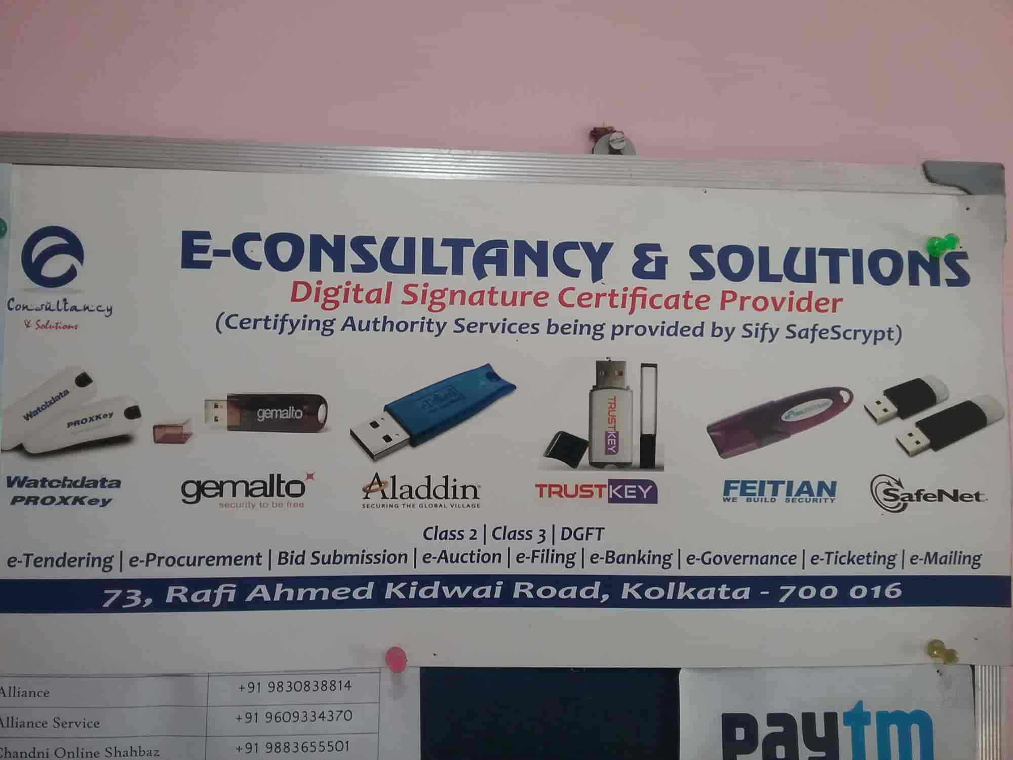 E Consultancy And Solution, Park Street - Digital Signature