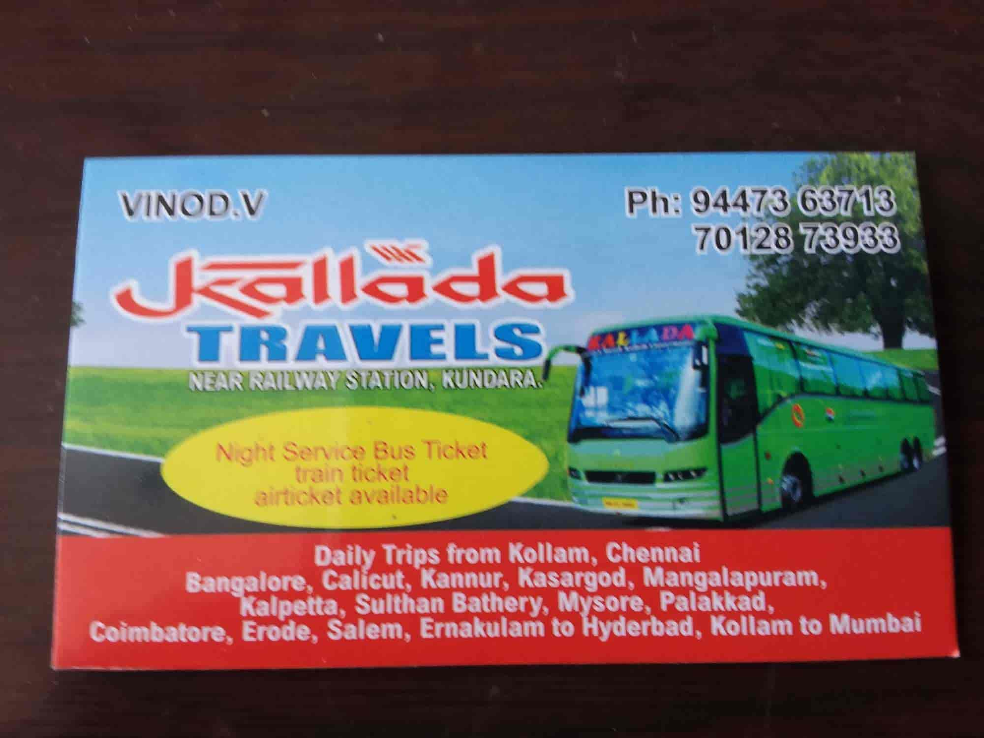Kollam to banglore