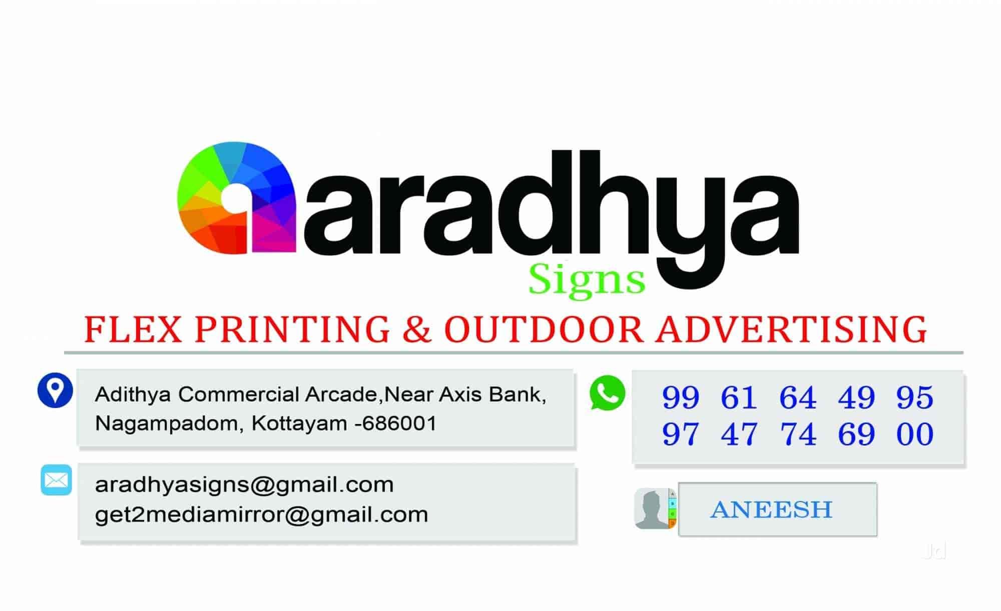 Aradhya Signs Digital Printing And Advertising, Near Axis