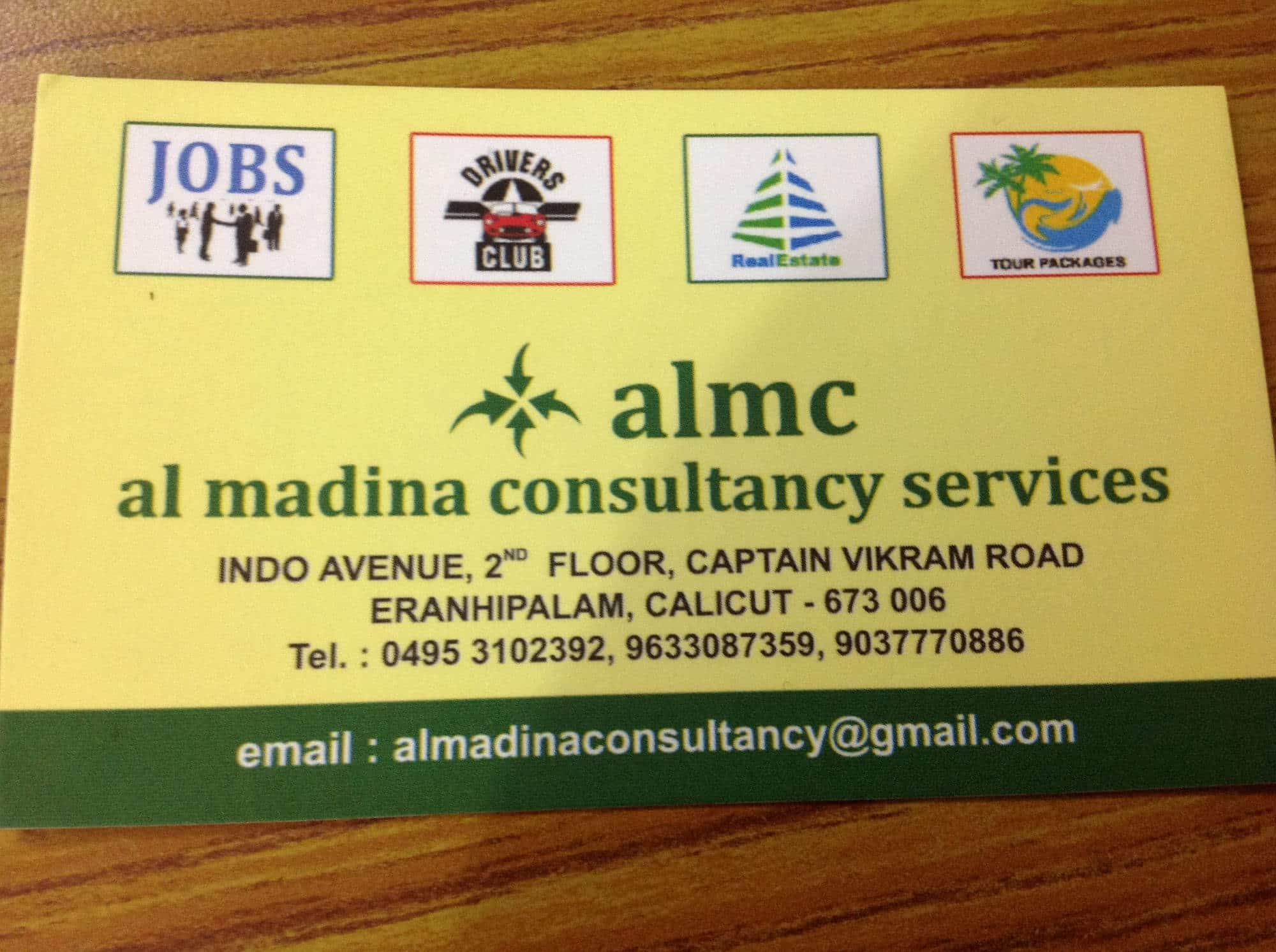 Al Madina Consultancy, Eranhipalam - Placement Services (For