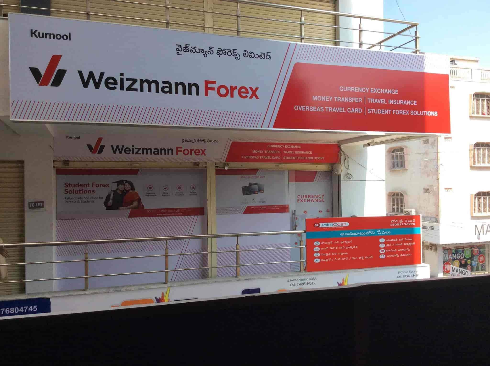 Front View Of Foreign Exchange Agency Weizmann Forex Ltd Photos Gipson Colony Kurnool