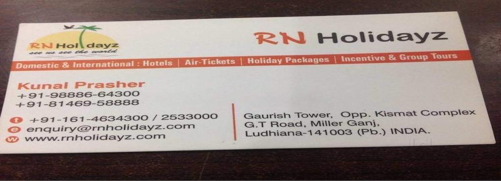 Rn Holidays Millerganj Travel Agents In Ludhiana Justdial