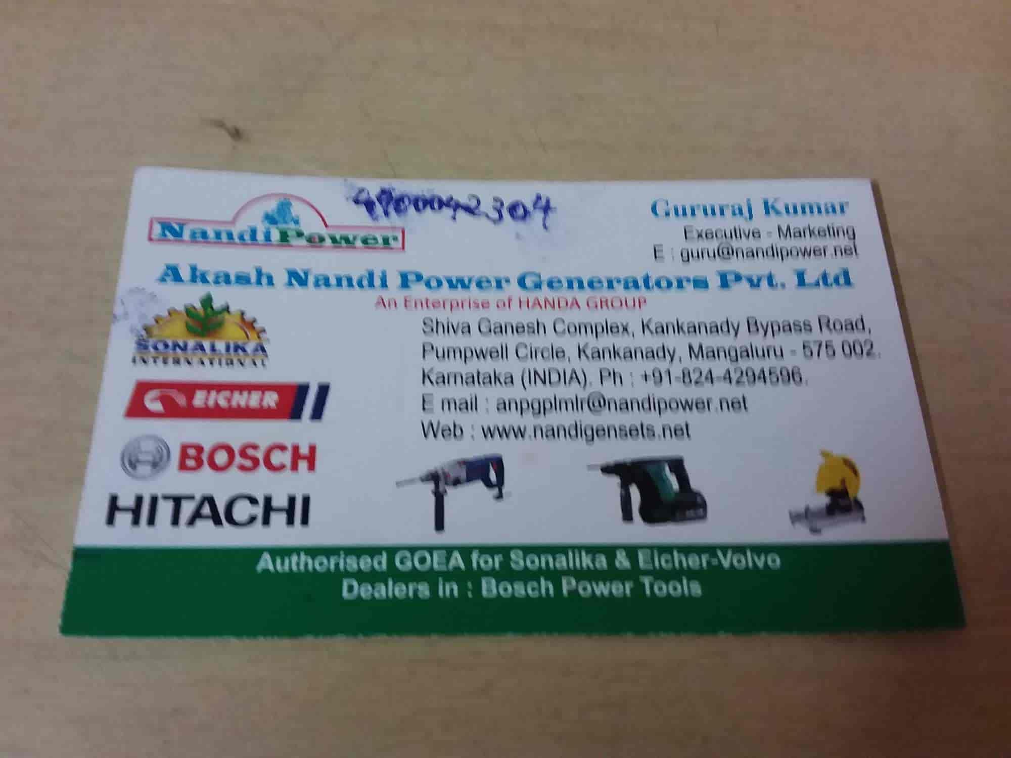 Akash Nandi, Kankanady - Generator Dealers in Mangalore